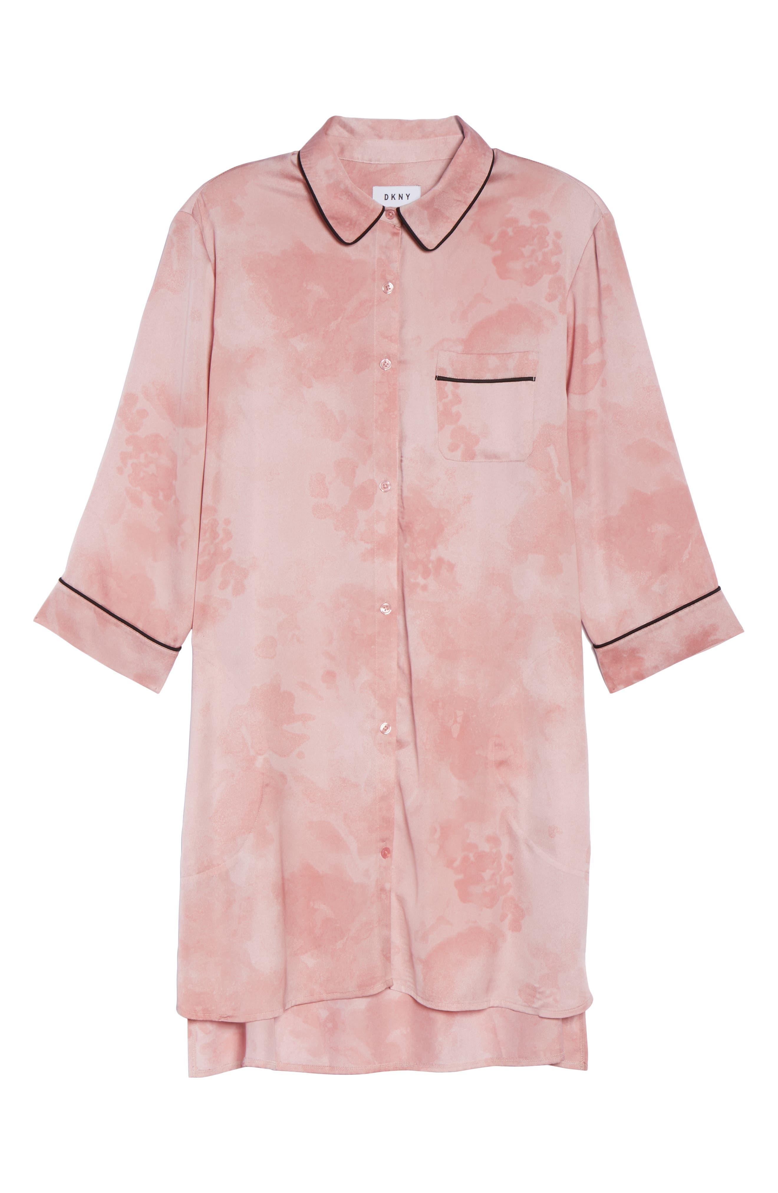 Alternate Image 6  - DKNY Washed Satin Sleep Shirt
