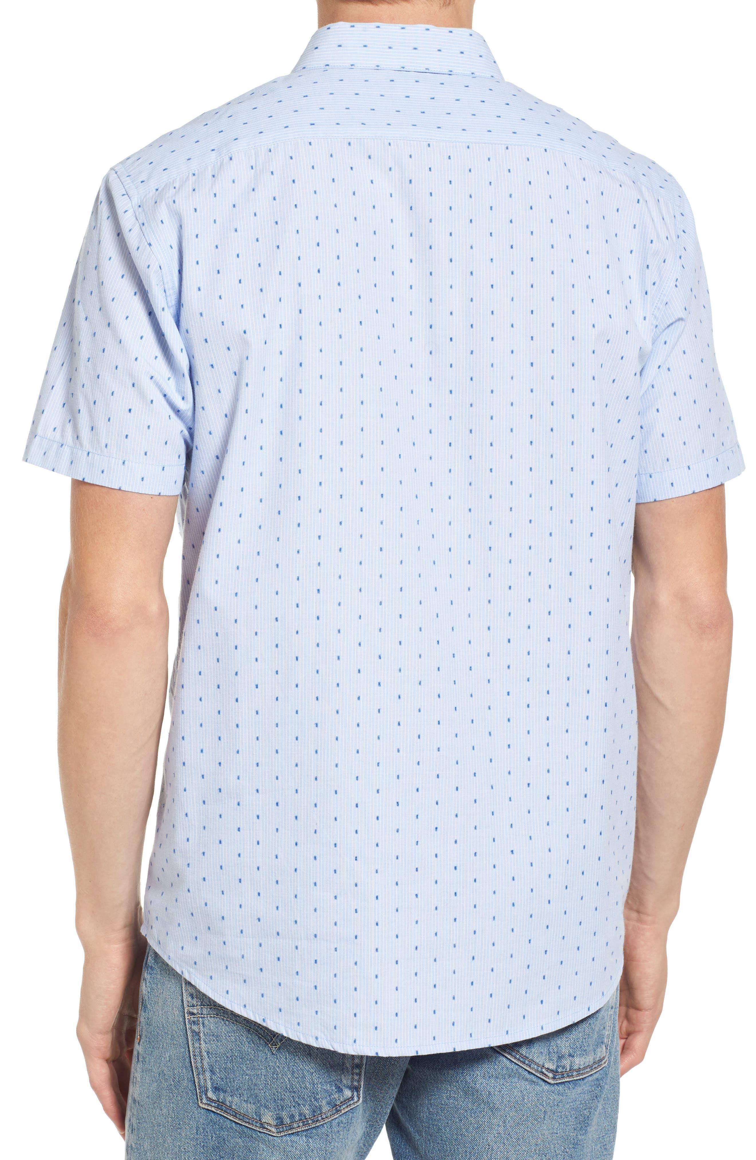 Return Dobby Woven Shirt,                             Alternate thumbnail 2, color,                             Antique White