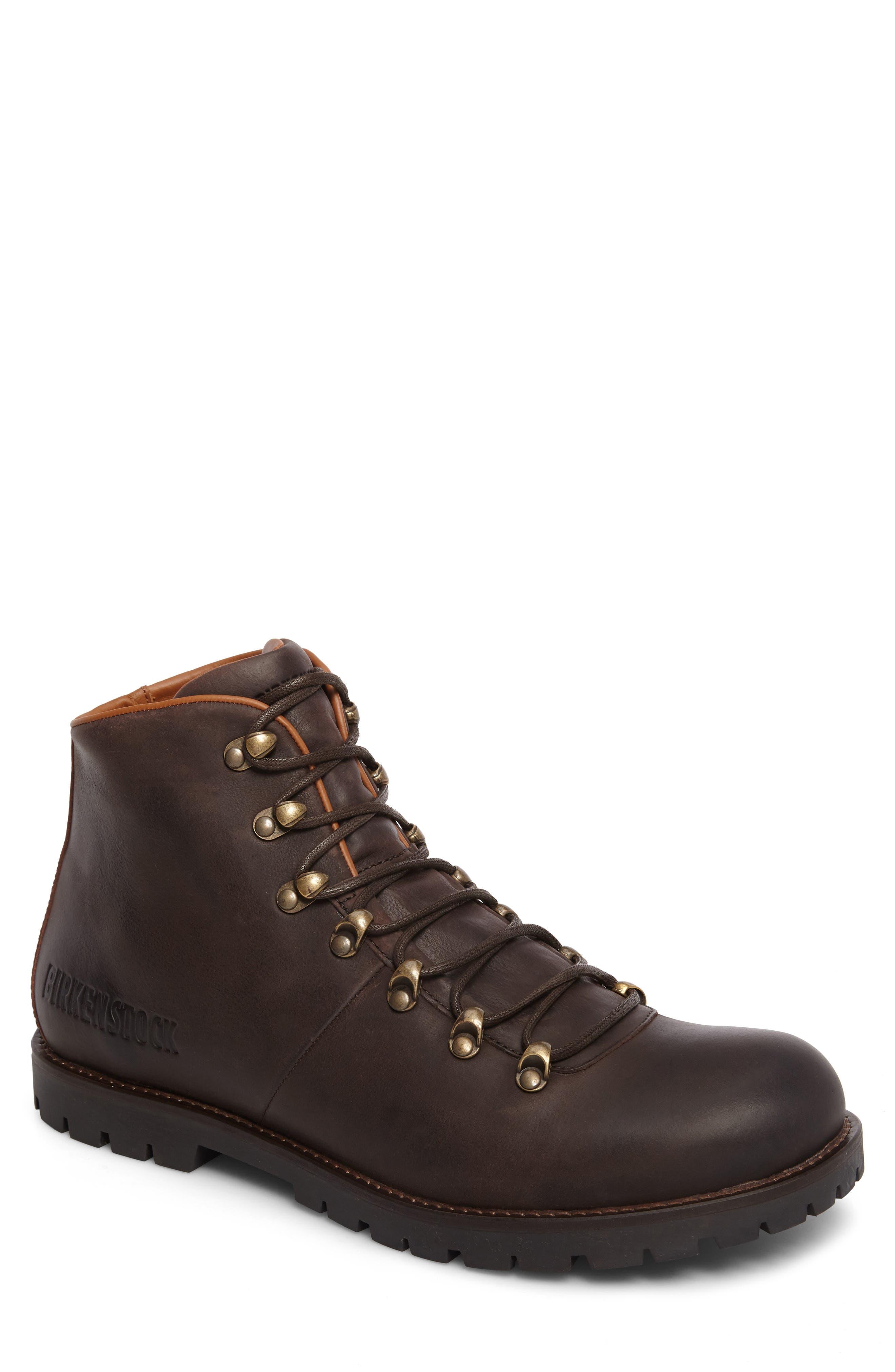 Hancock Plain Toe Boot,                         Main,                         color, Dark Brown