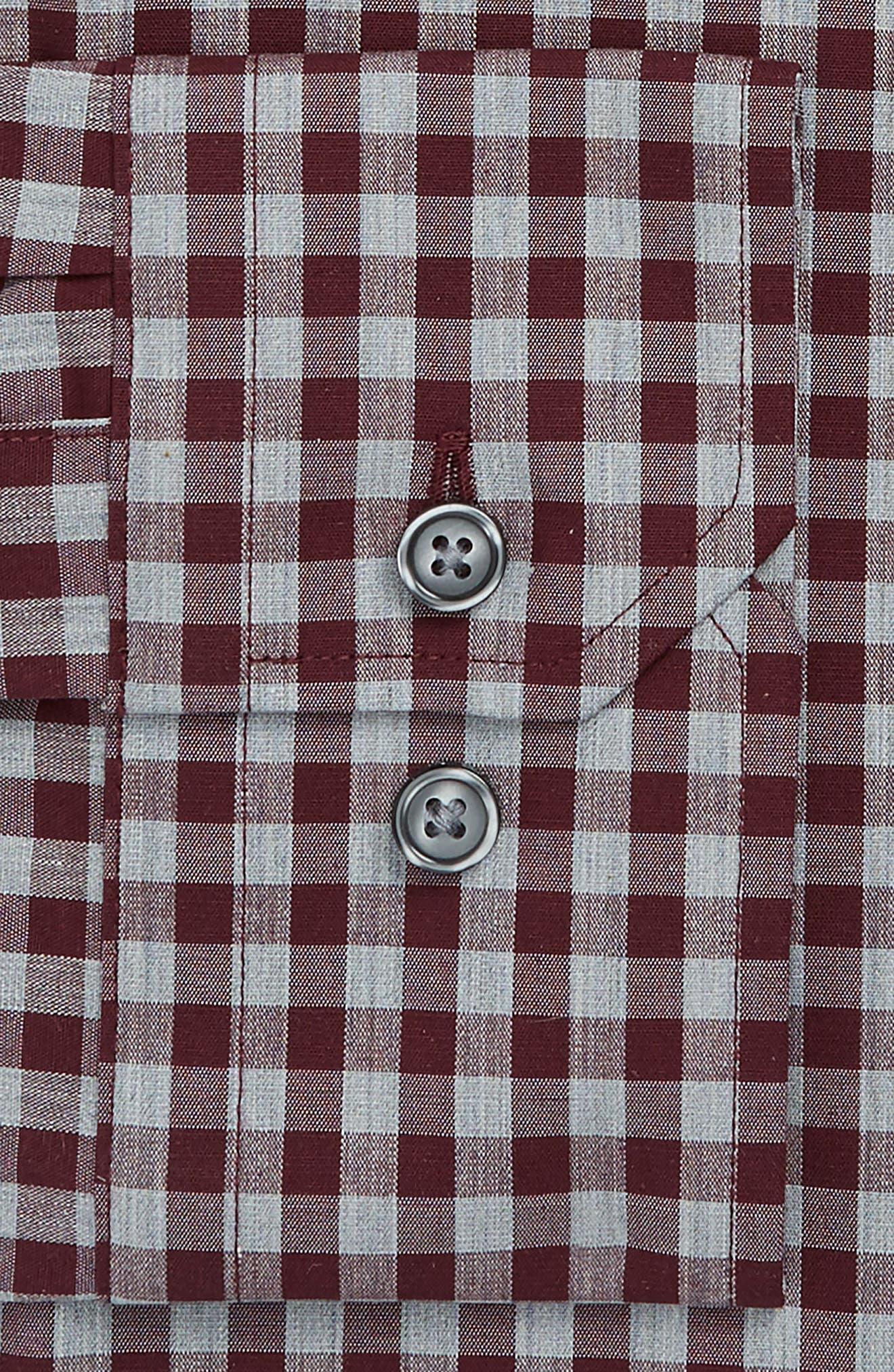 Alternate Image 4  - Calibrate Trim Fit No-Iron Check Stretch Dress Shirt