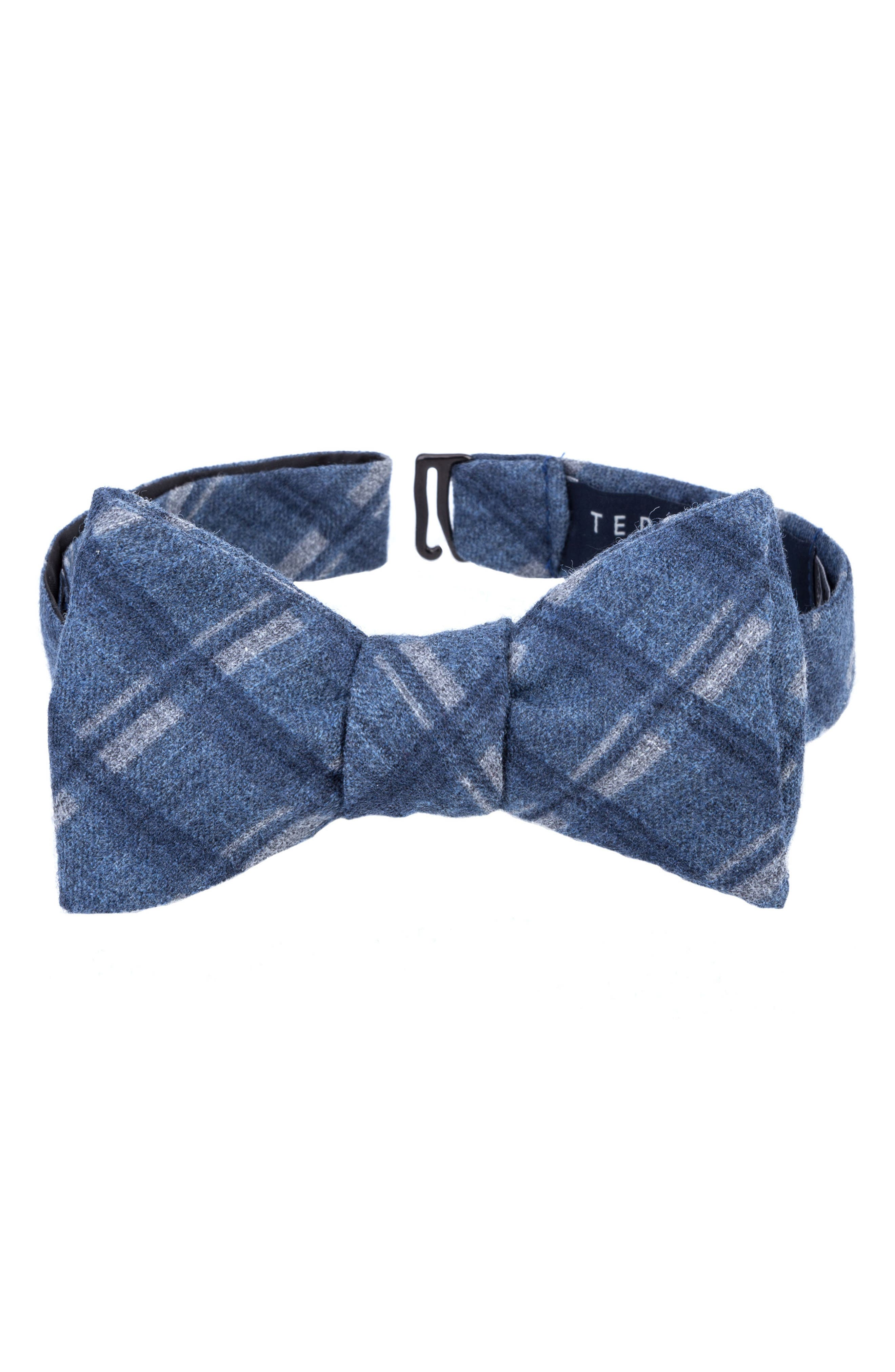 Wool Bow Tie,                         Main,                         color, Blue