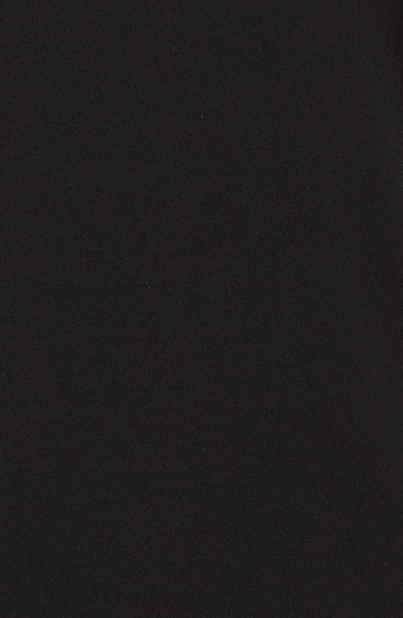 Cara Modal Knit Long Pajamas,                             Alternate thumbnail 6, color,                             Noir/ Vanilla