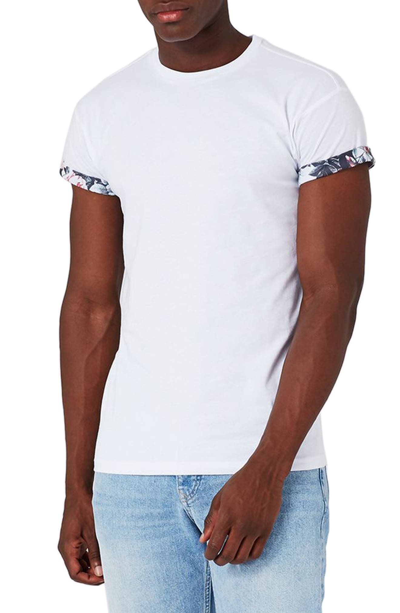 Floral Roller T-Shirt,                         Main,                         color, White