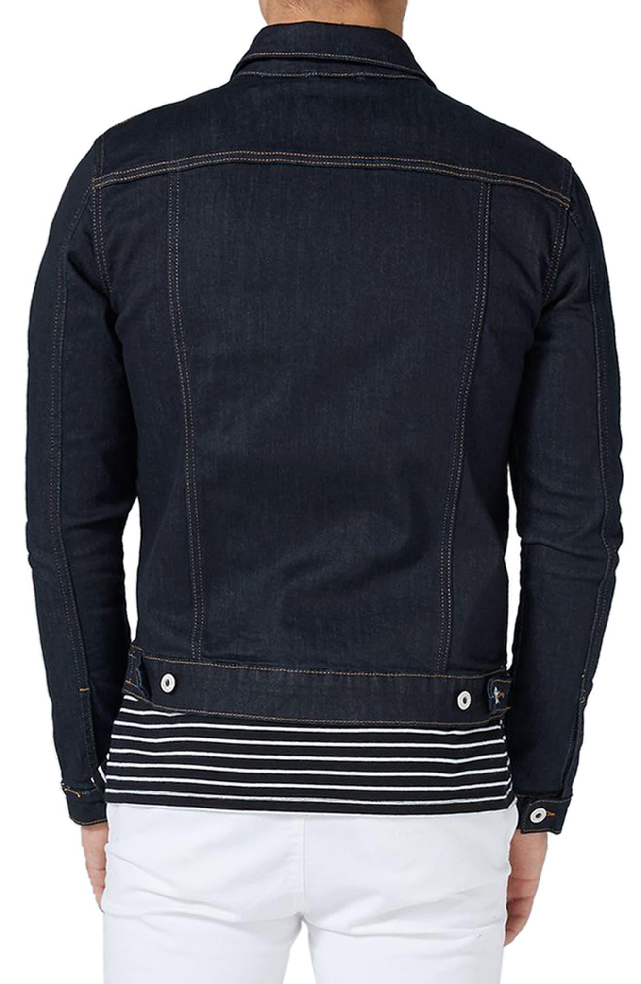Alternate Image 2  - Topman Raw Muscle Fit Denim Jacket