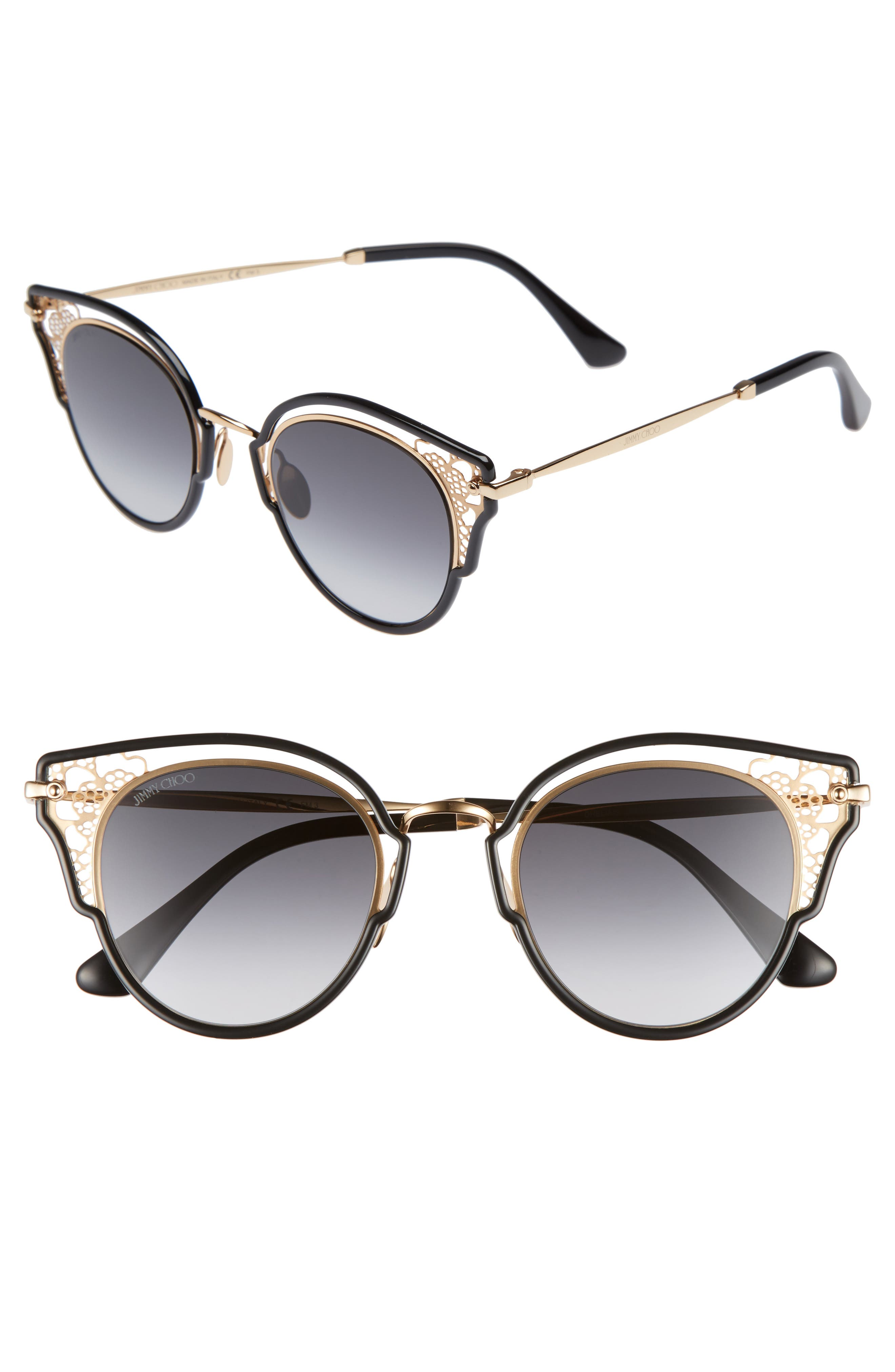 Jimmy Choo Dhelias 48mm Cat Eye Sunglasses