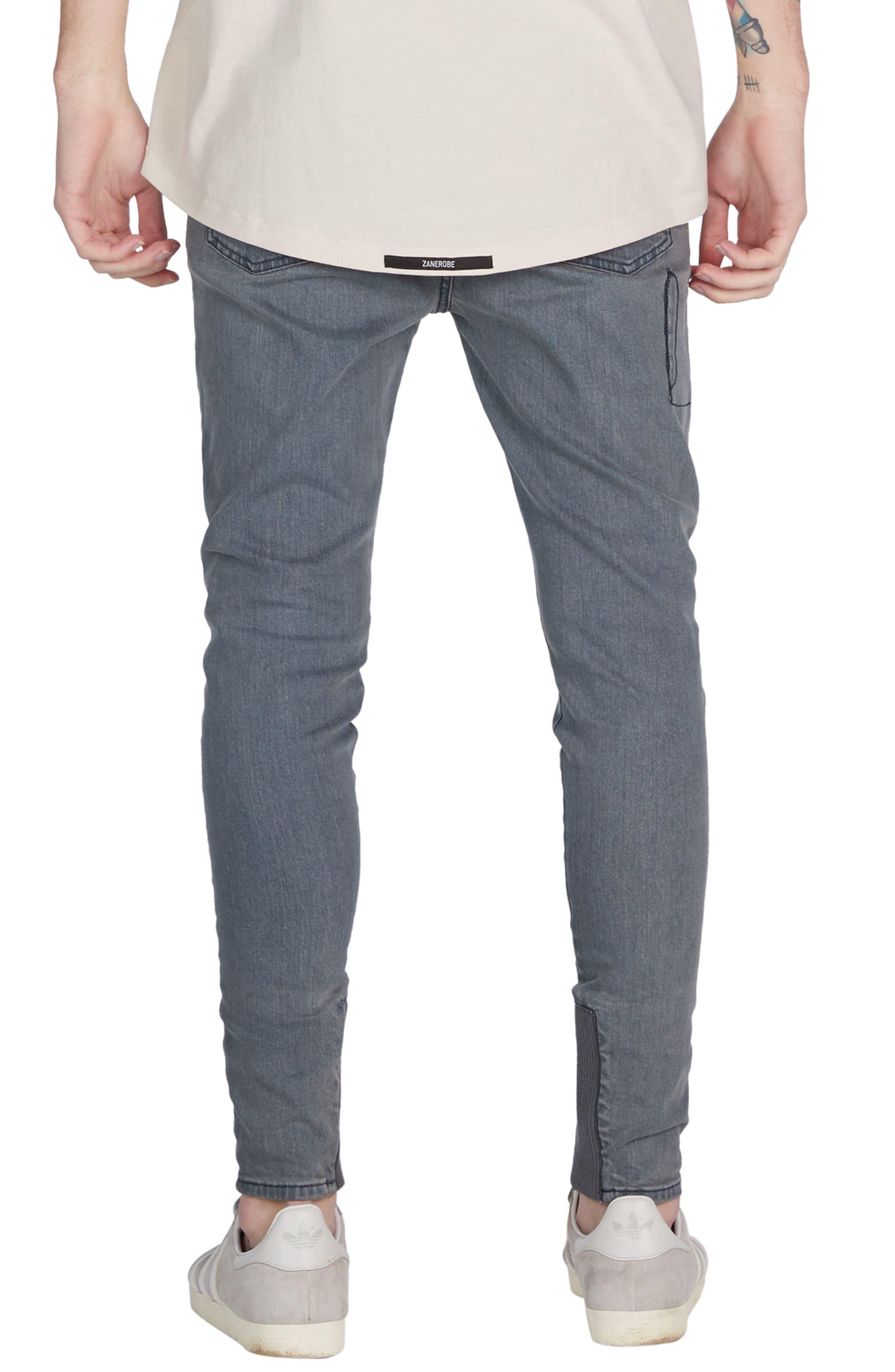 Sharpshot Slouchy Skinny Fit Denim Pants,                             Alternate thumbnail 2, color,                             Blue Grey