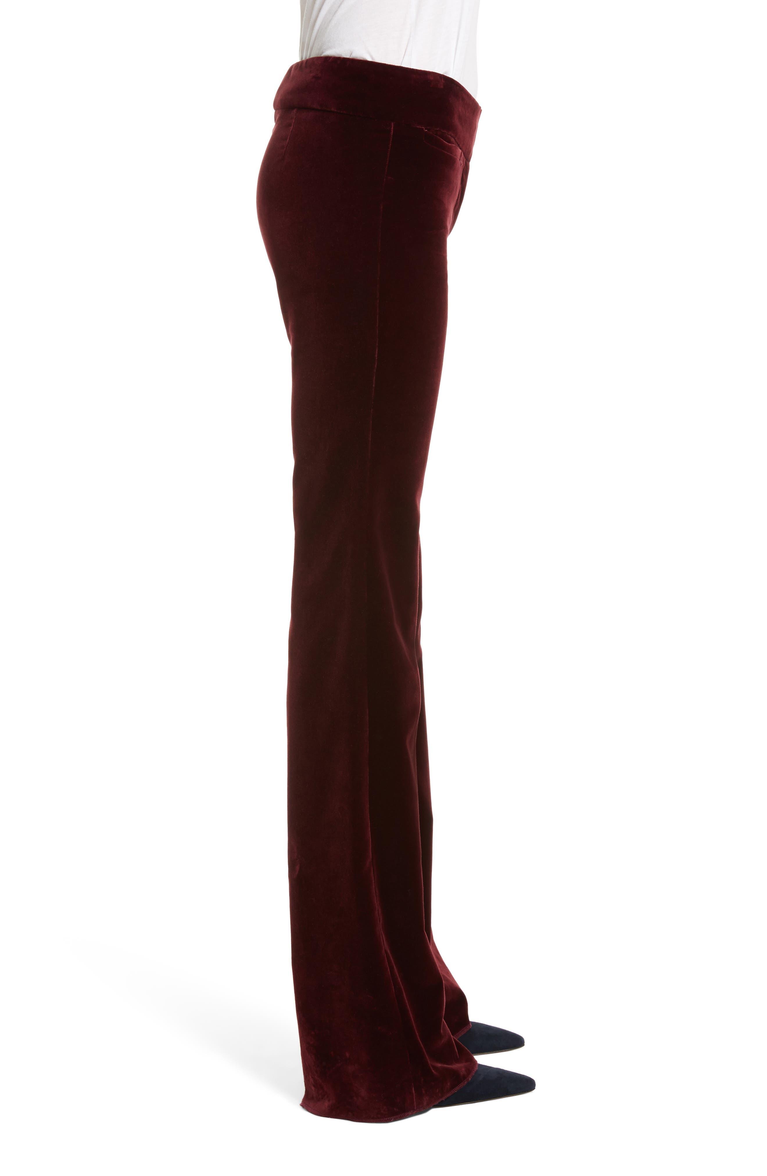 Alternate Image 4  - Nili Lotan Amoire Velvet Flare Pants