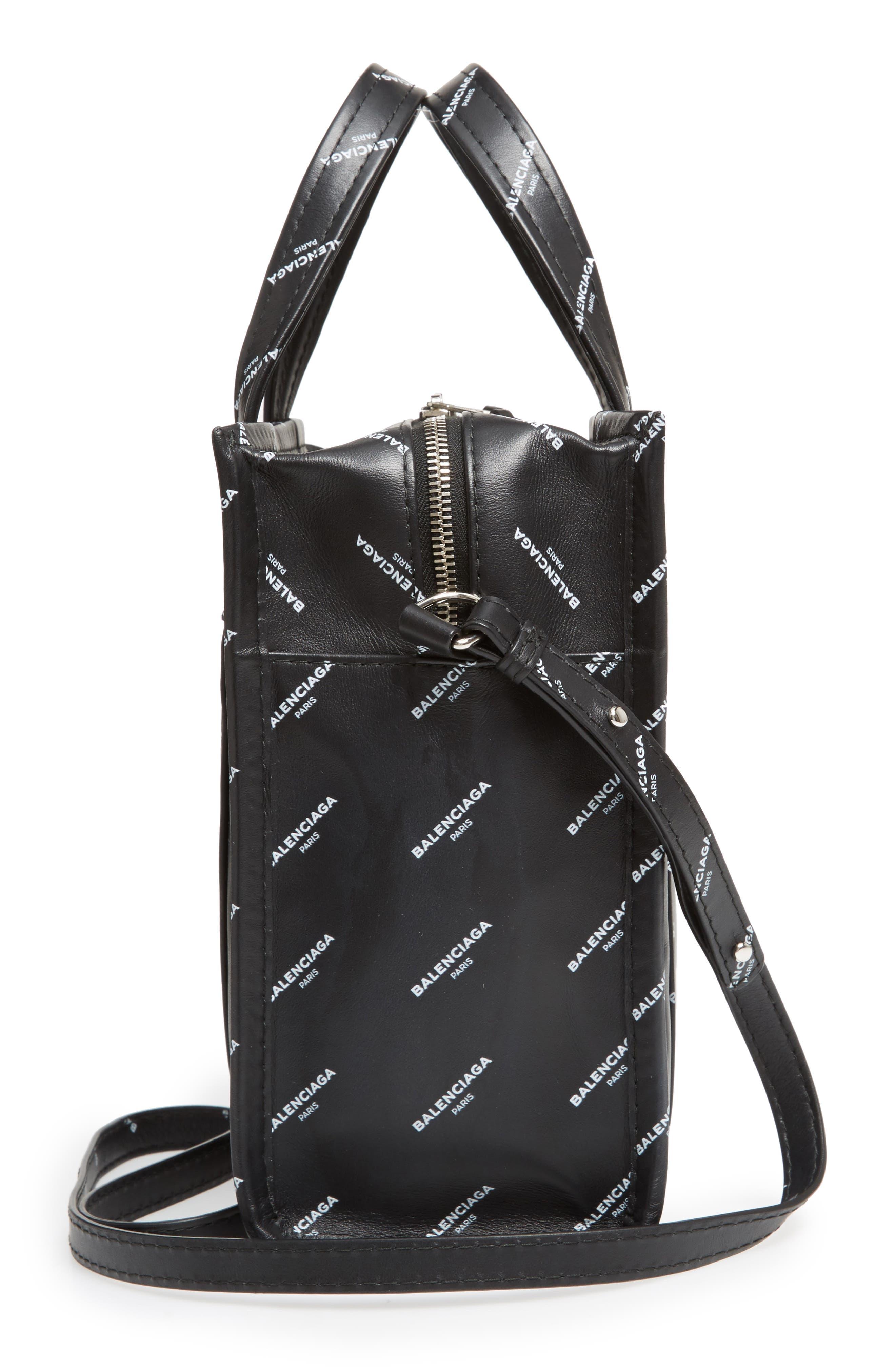 Alternate Image 5  - Balenciaga Extra Small Bazar Logo Leather Shopper