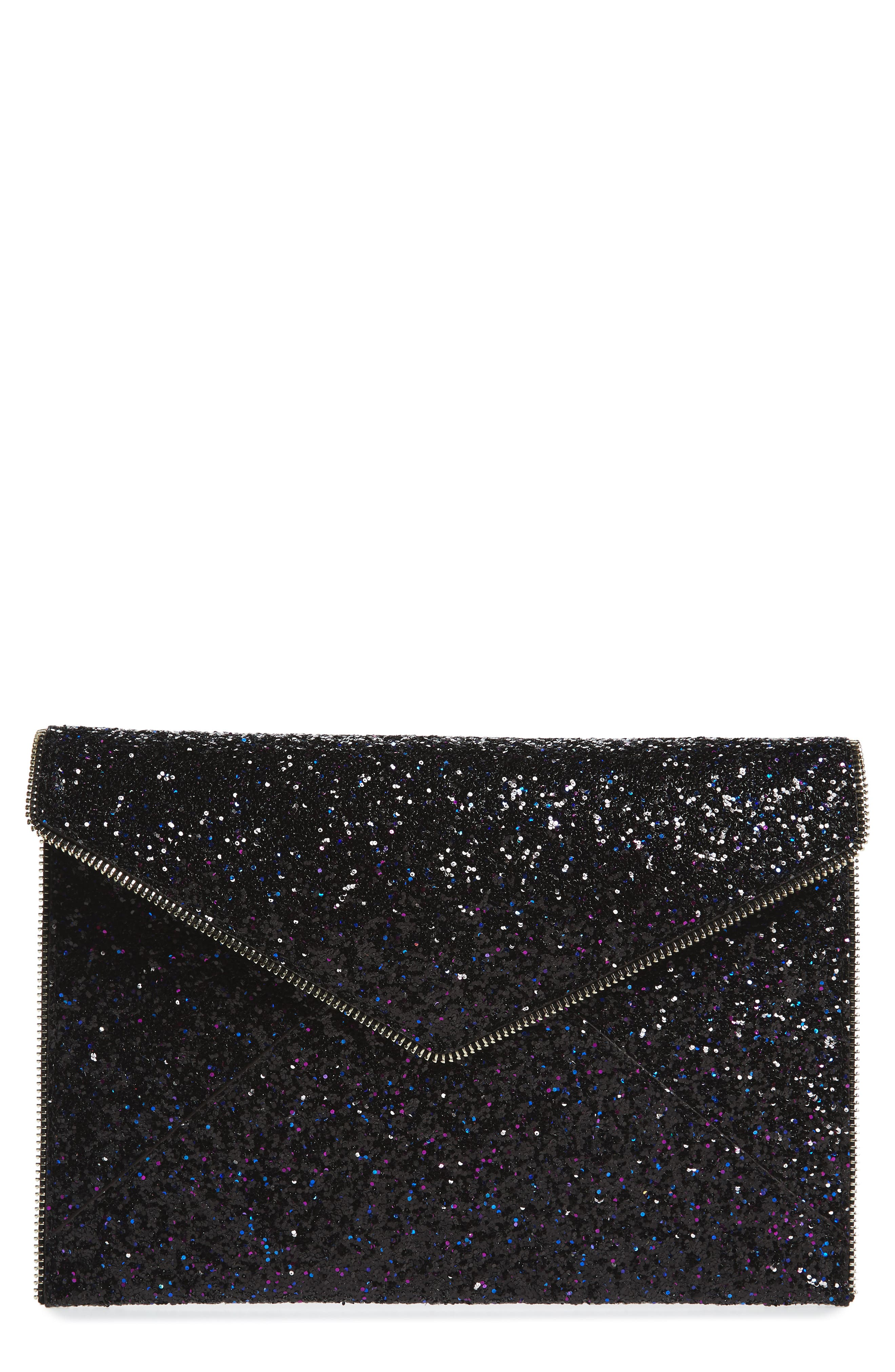 Alternate Image 1 Selected - Rebecca Minkoff Leo Glitter Envelope Clutch