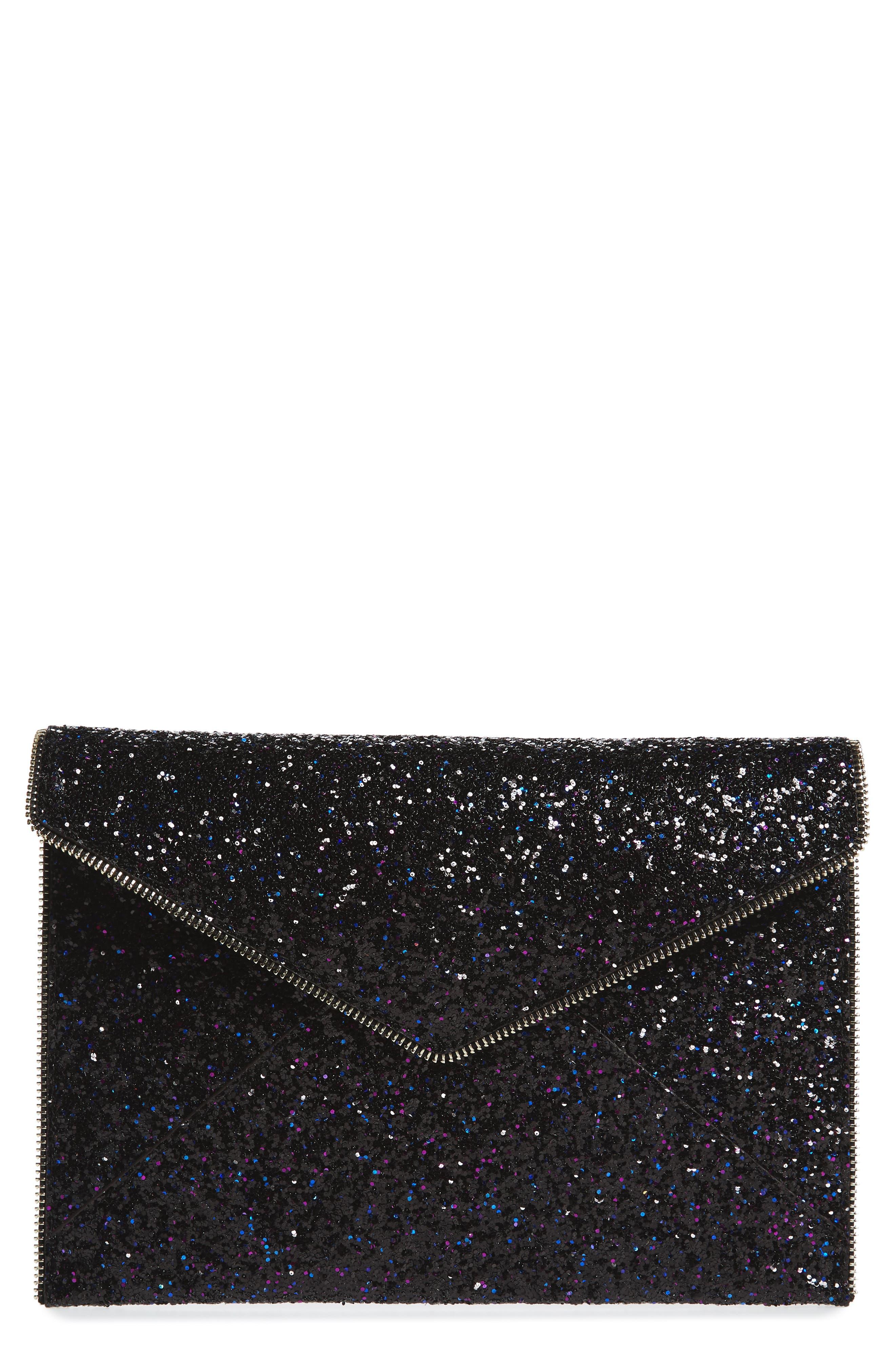 Rebecca Minkoff Leo Glitter Envelope Clutch