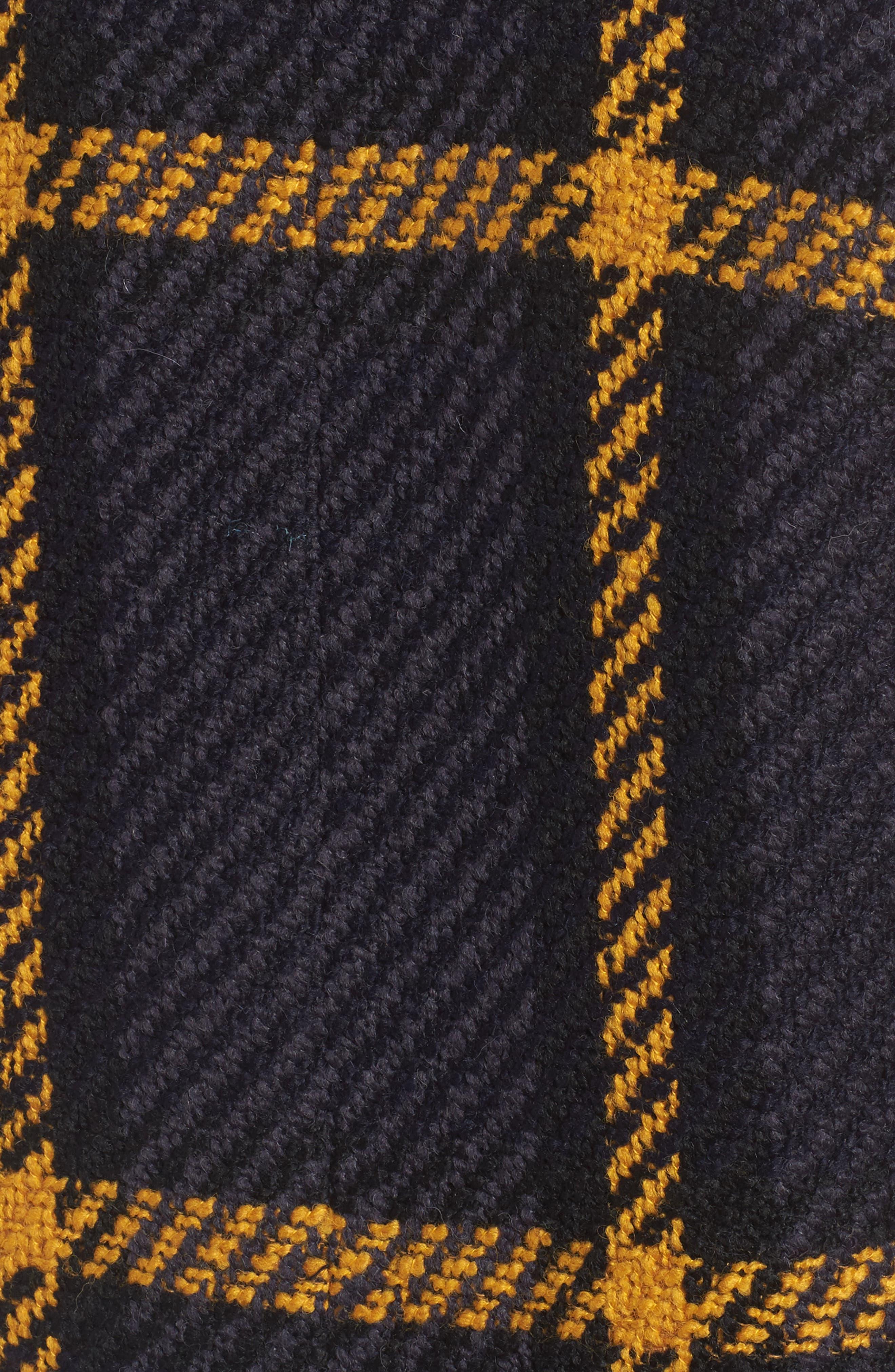 Alternate Image 6  - DKNY Textured Plaid Wool Blend Coat