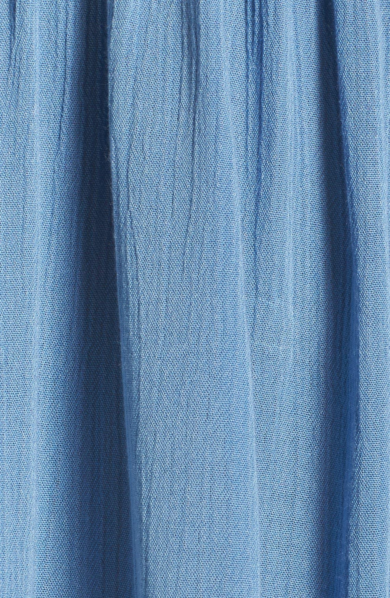 Oliva Cover-Up Dress,                             Alternate thumbnail 5, color,                             Denim