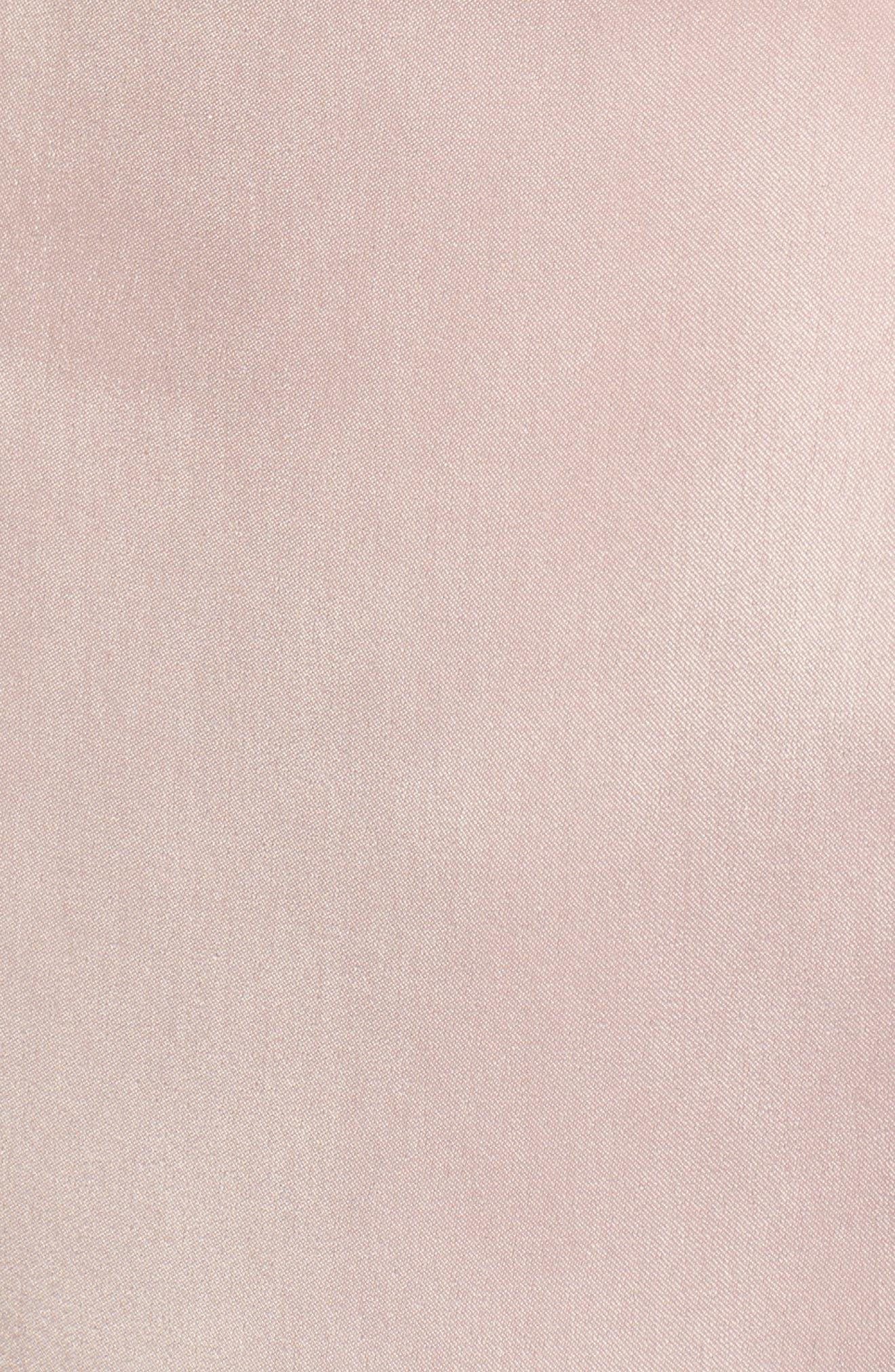 Choker Detail Wrap Blouse,                             Alternate thumbnail 5, color,                             Pink Adobe