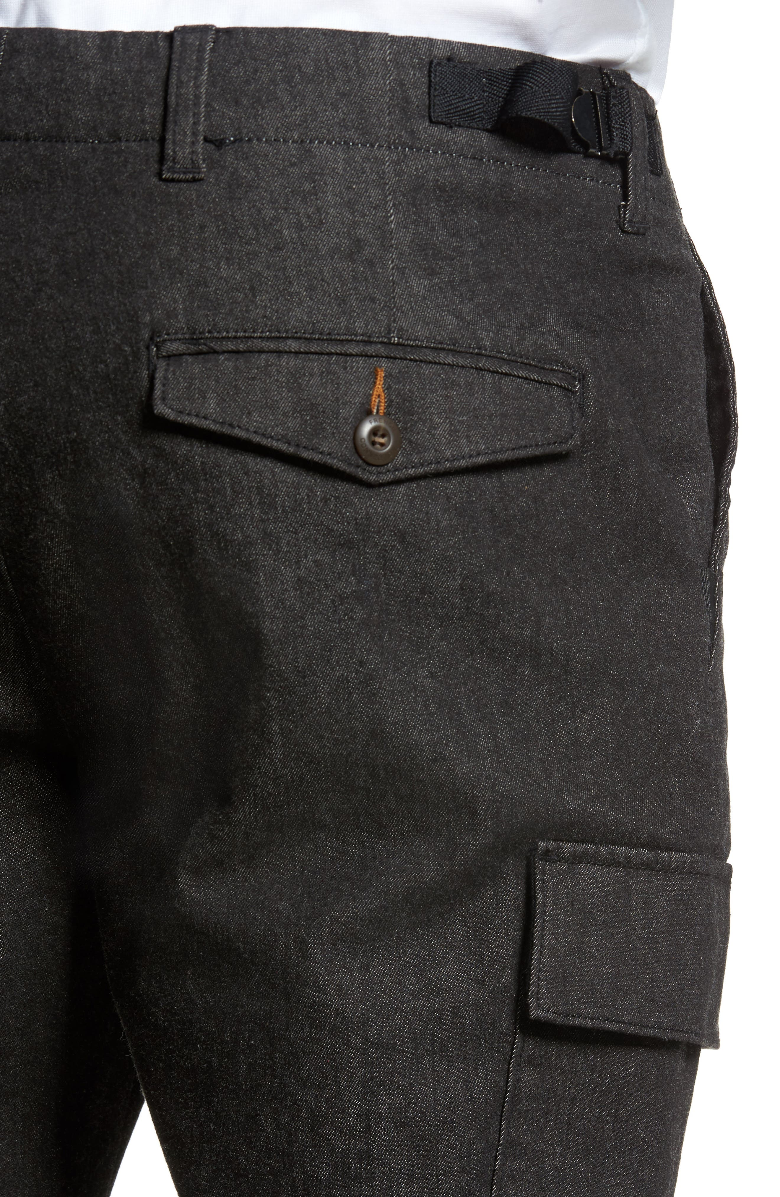 Brushed Stretch Twill Pants,                             Alternate thumbnail 4, color,                             Charcoal Mel