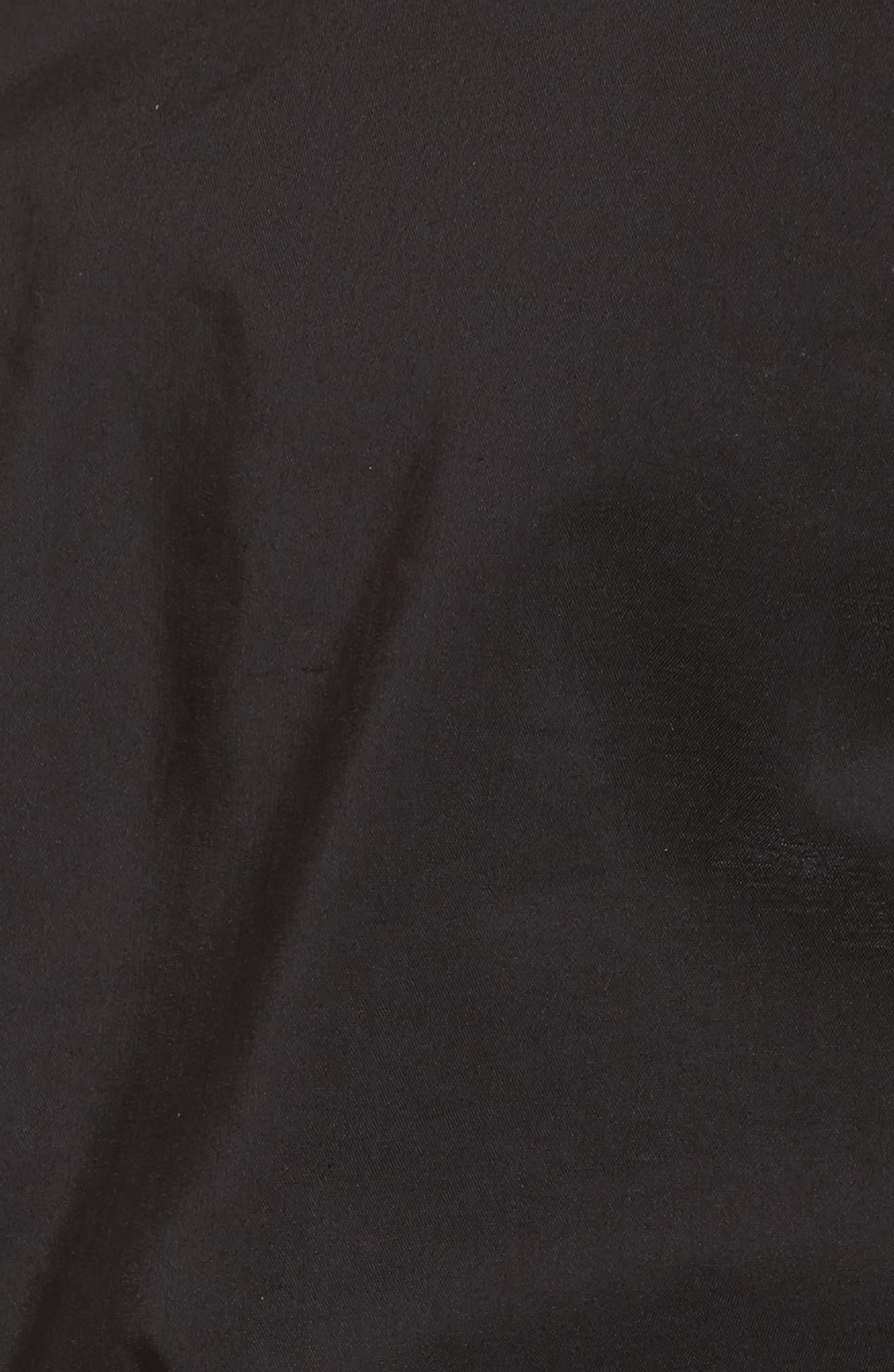 Ruffle One-Shoulder Blouse,                             Alternate thumbnail 5, color,                             Black