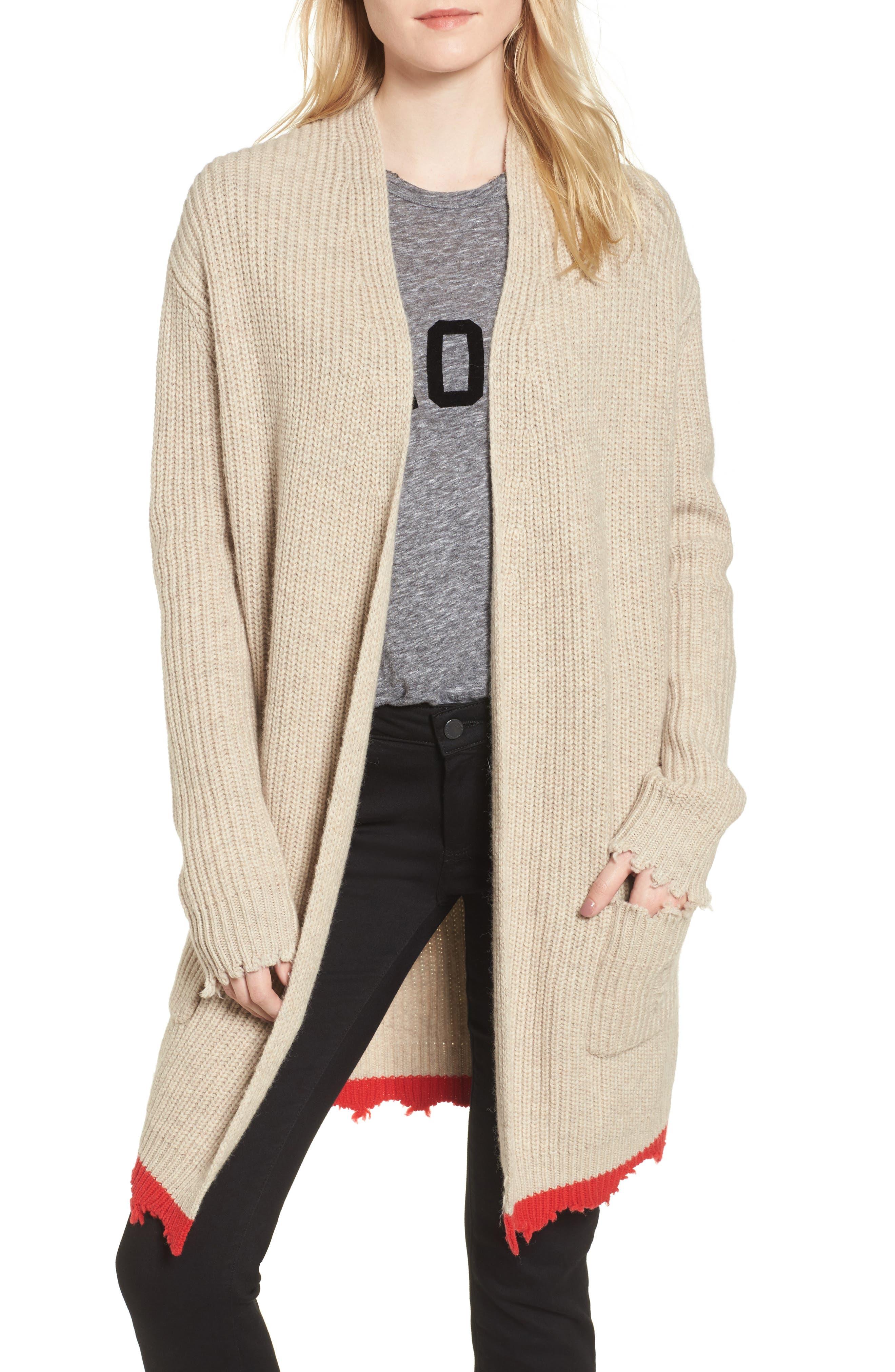 Rita Cardigan Sweater,                         Main,                         color, Beige