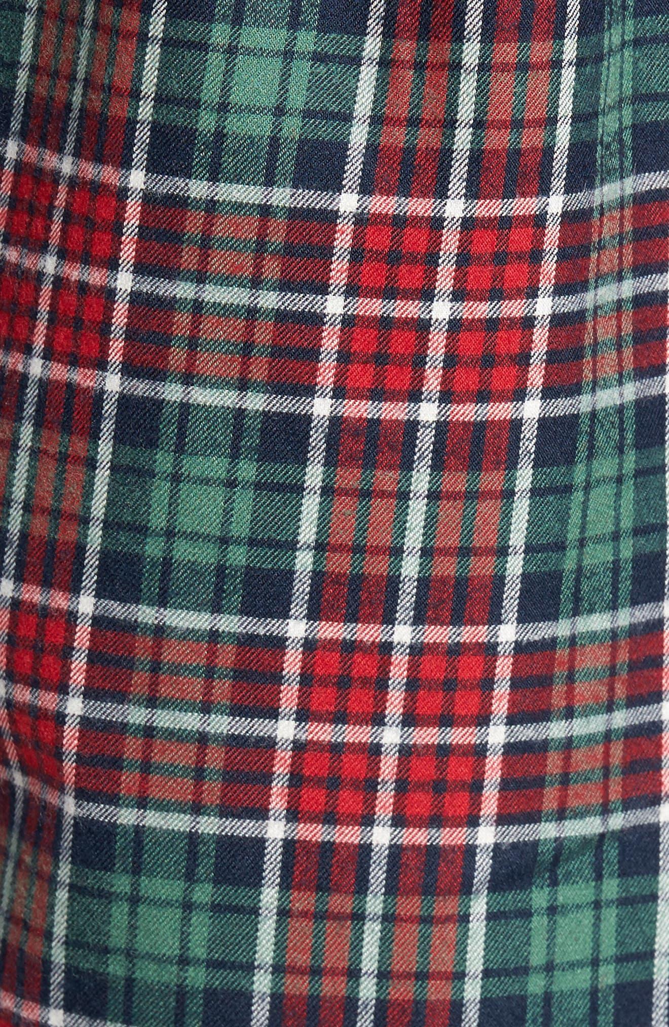 Tucker Bold Point Slim Fit Plaid Sport Shirt,                             Alternate thumbnail 5, color,                             Charleston Green