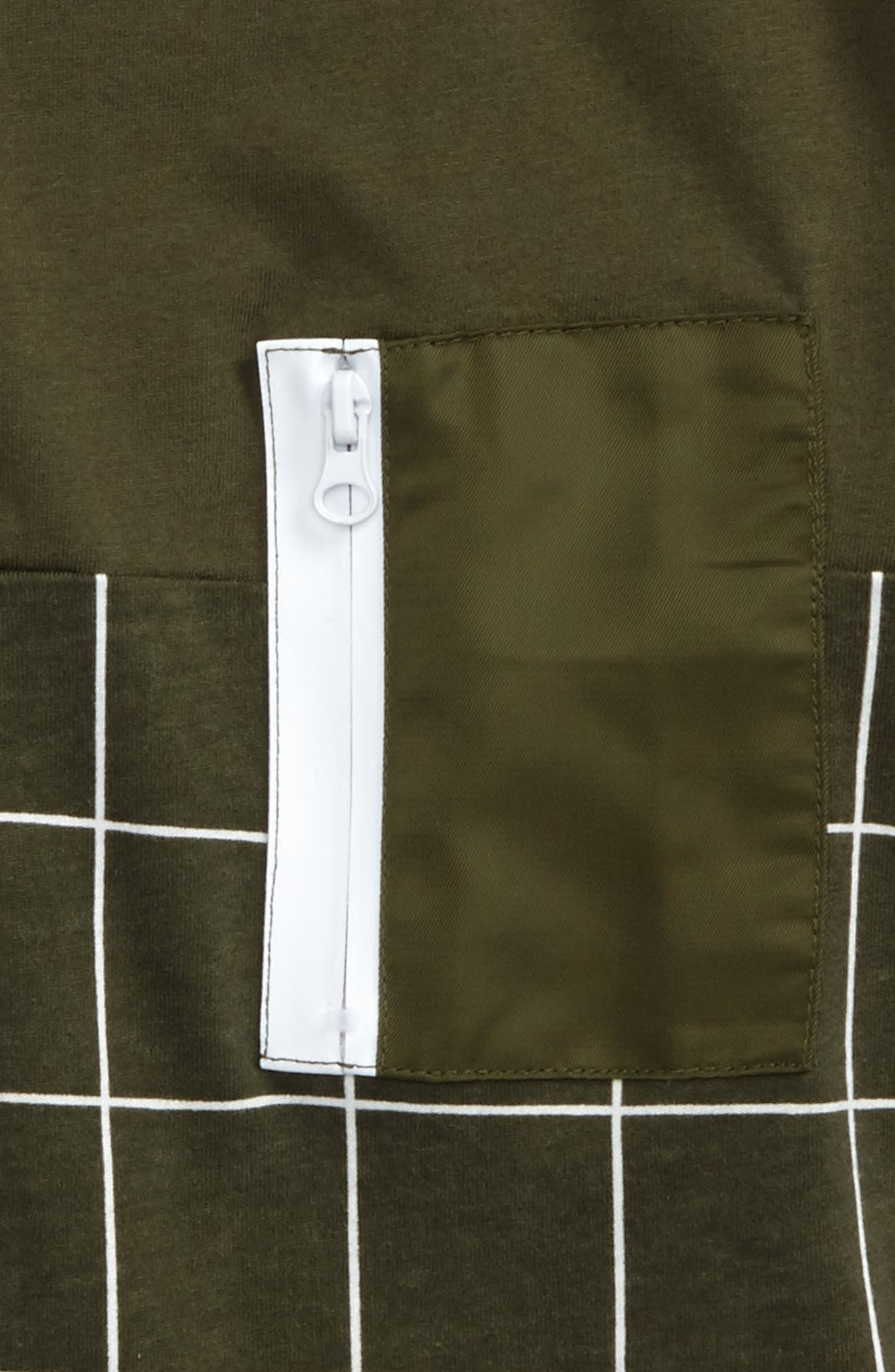 Contrast Pocket T-Shirt,                             Alternate thumbnail 2, color,                             Olive
