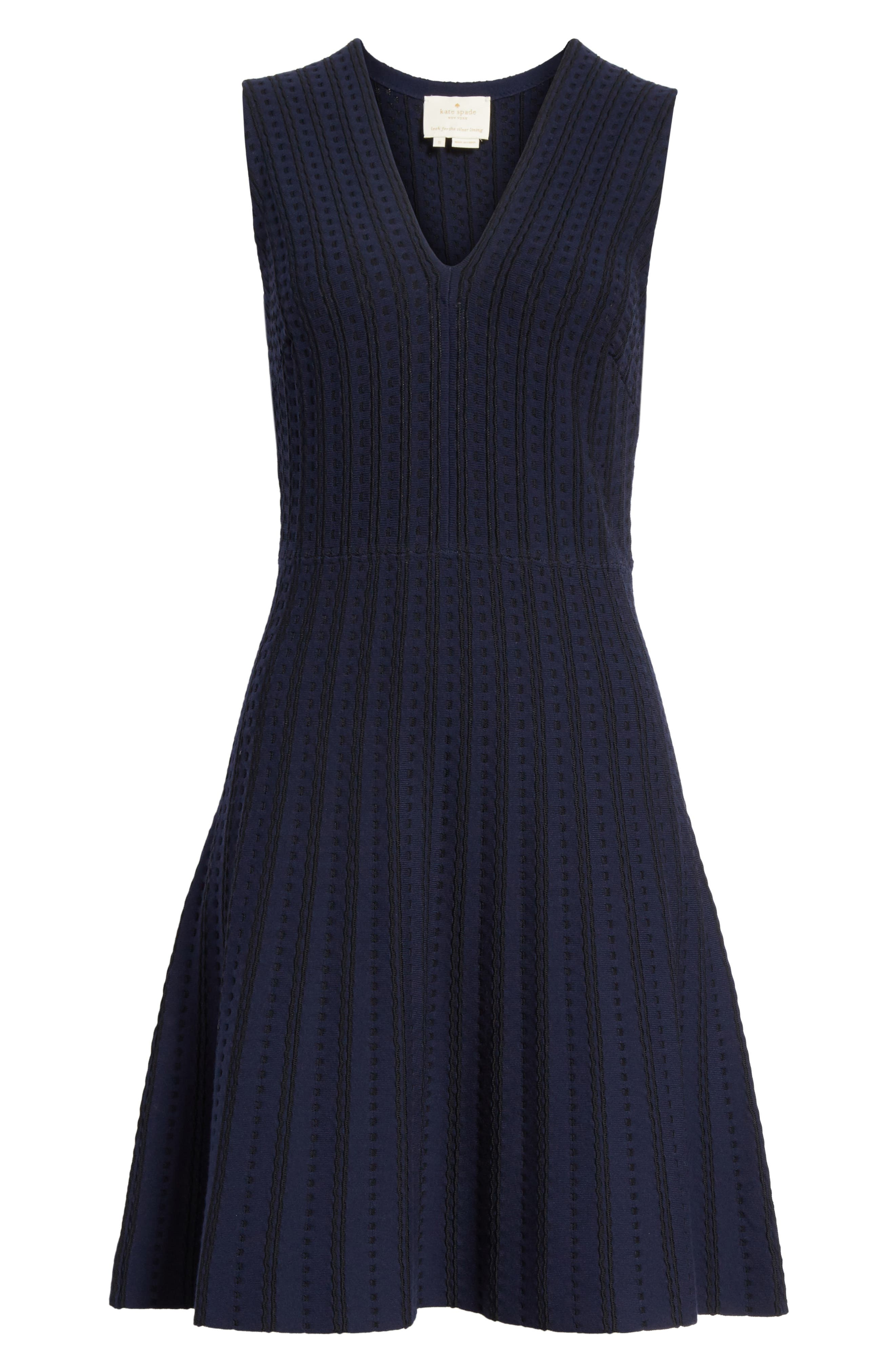 textured sweater dress,                             Alternate thumbnail 6, color,                             Rich Navy