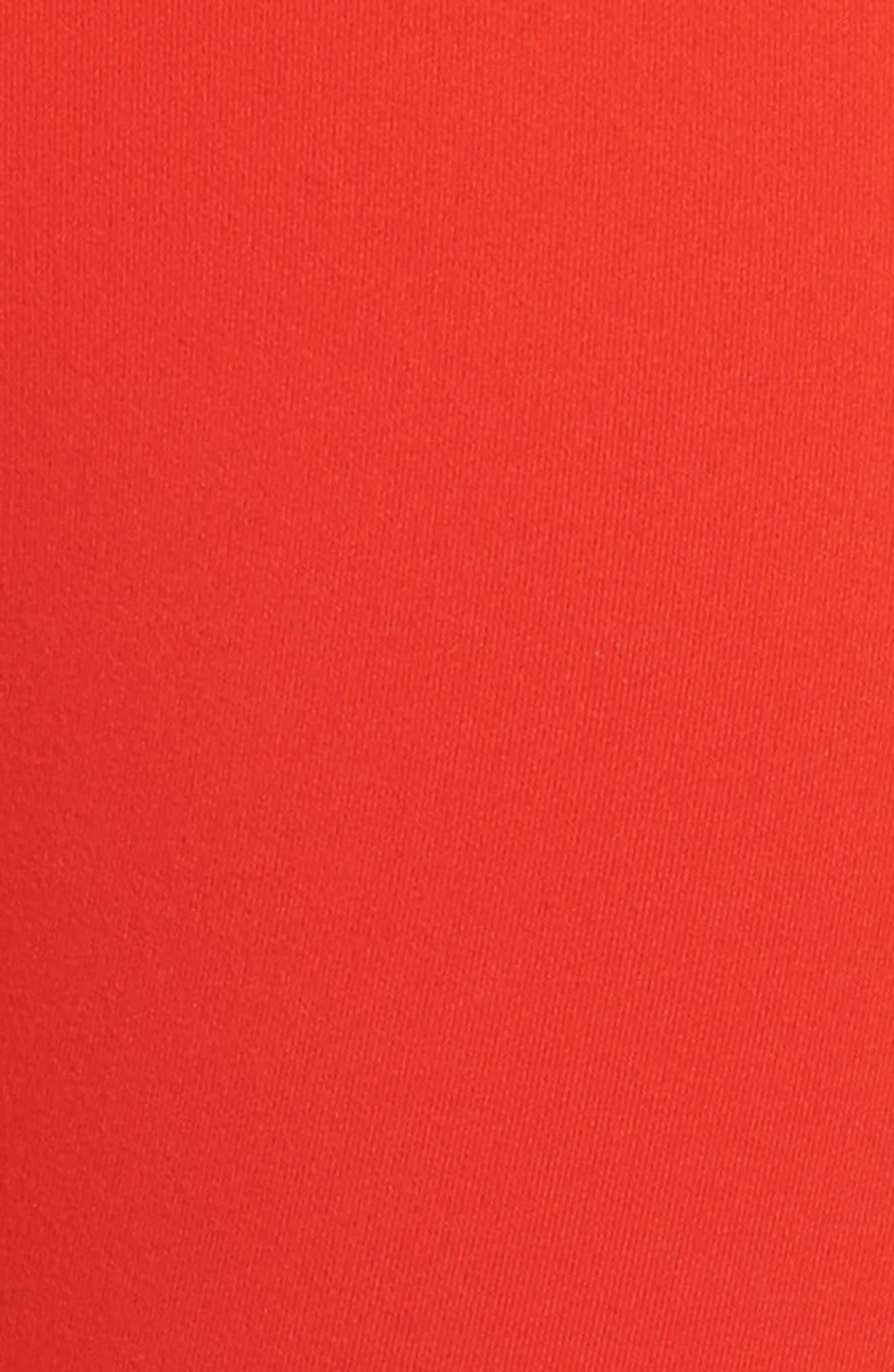 Live In Midi Leggings,                             Alternate thumbnail 6, color,                             Red Fiery