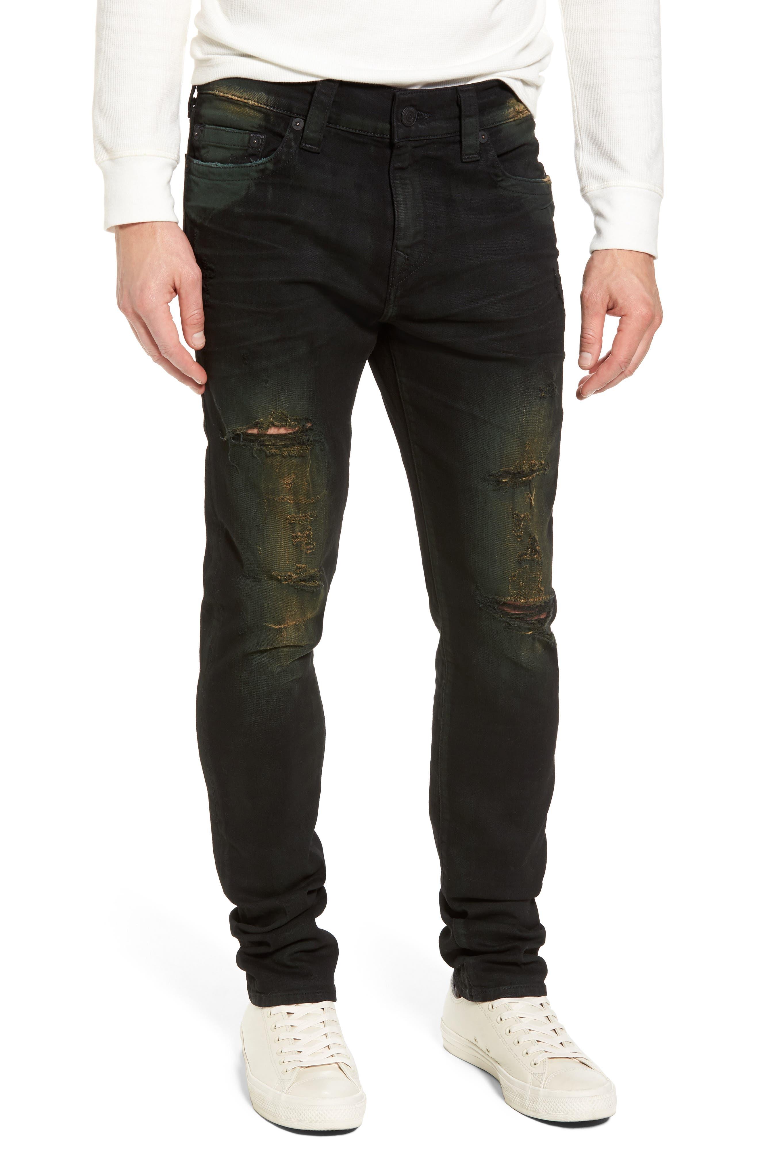 Alternate Image 1 Selected - True Religion Brand Jeans Rocco Skinny Fit Jeans (Green Blaze)
