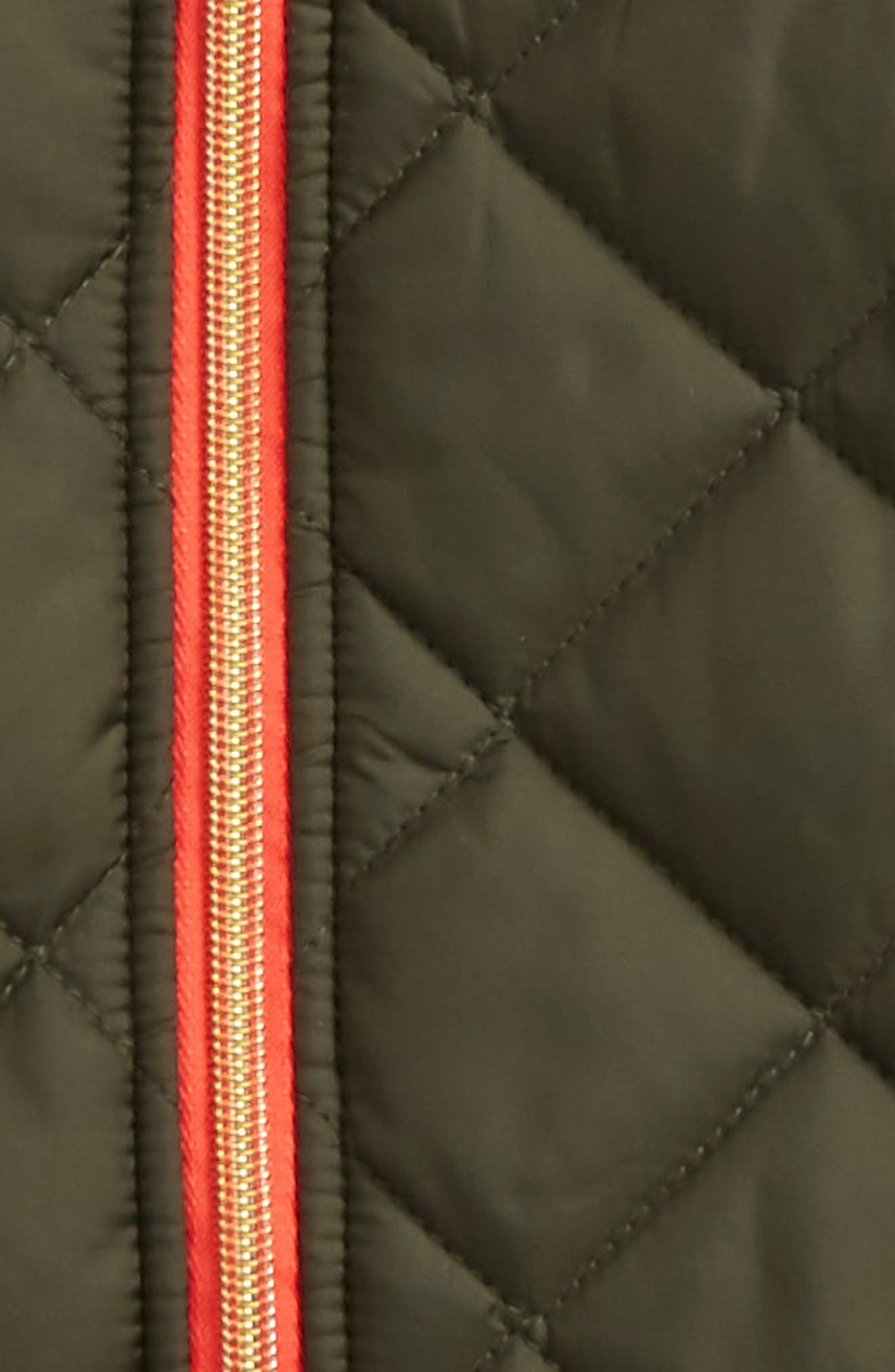 Quilted Hooded Jacket,                             Alternate thumbnail 2, color,                             Ivy