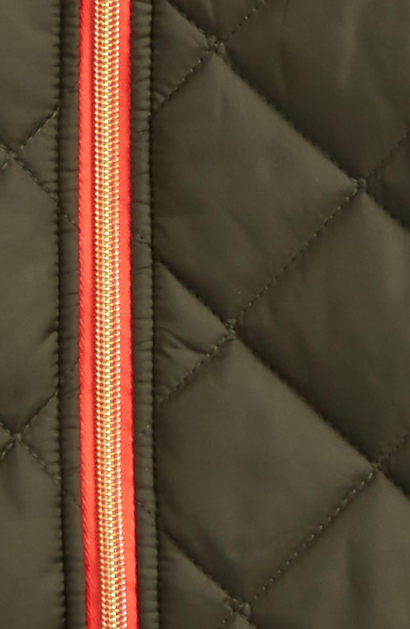 Alternate Image 2  - Michael Kors Quilted Hooded Jacket (Big Girls)