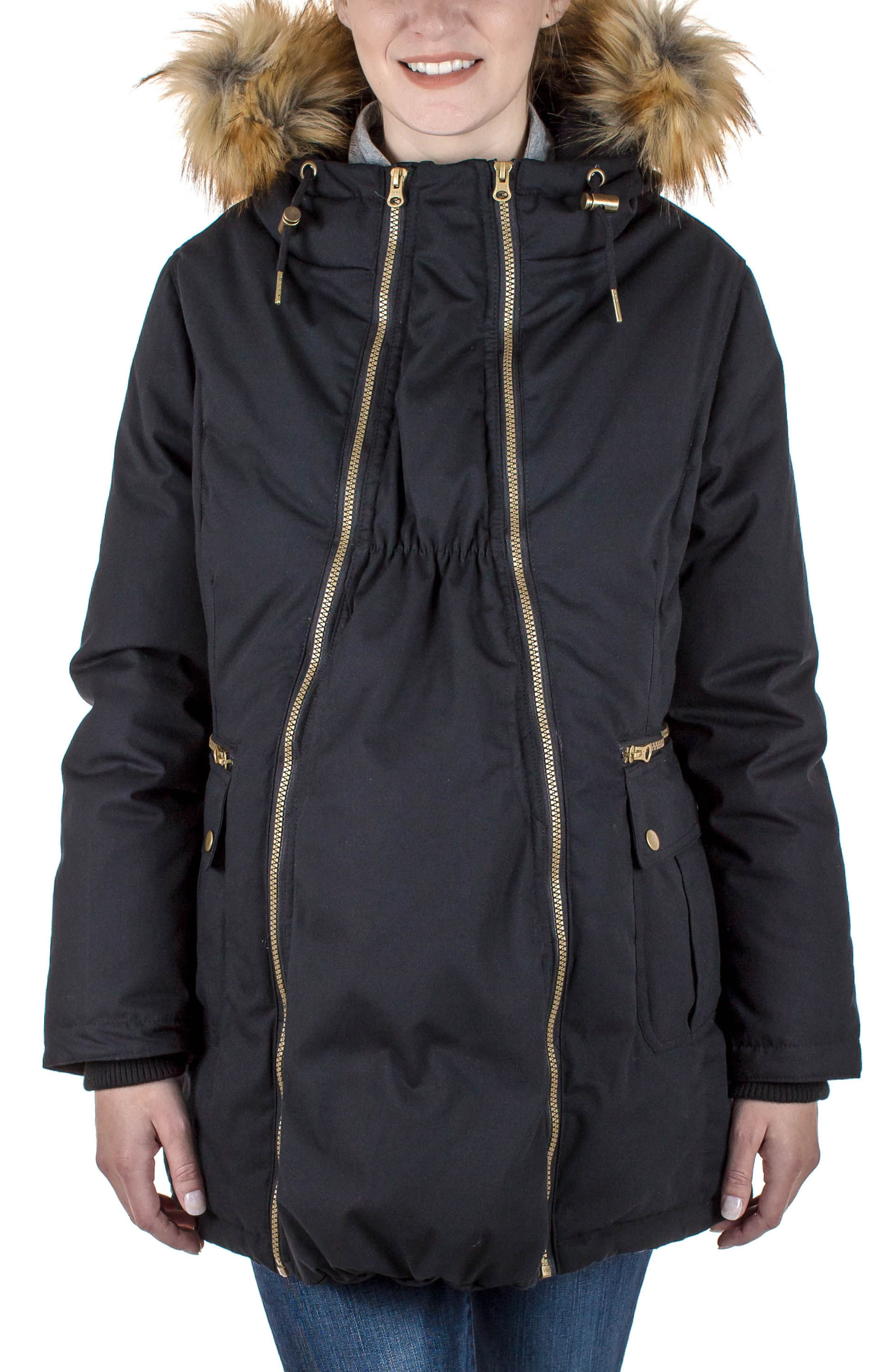 Alternate Image 1 Selected - Modern Eternity Convertible Down Maternity Jacket