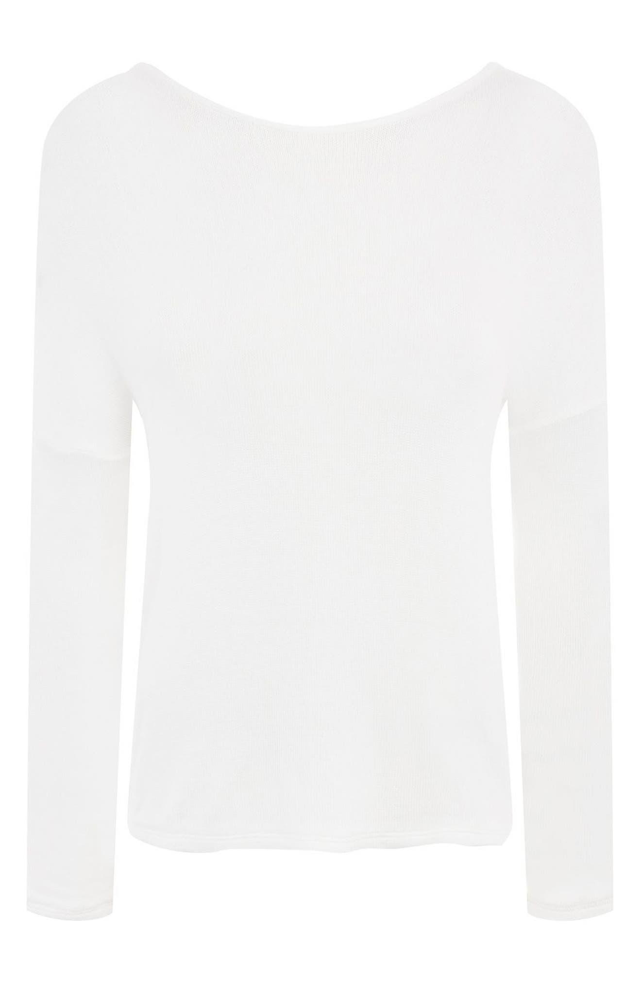 Alternate Image 4  - Topshop Drop Shoulder Tie Back Sweater