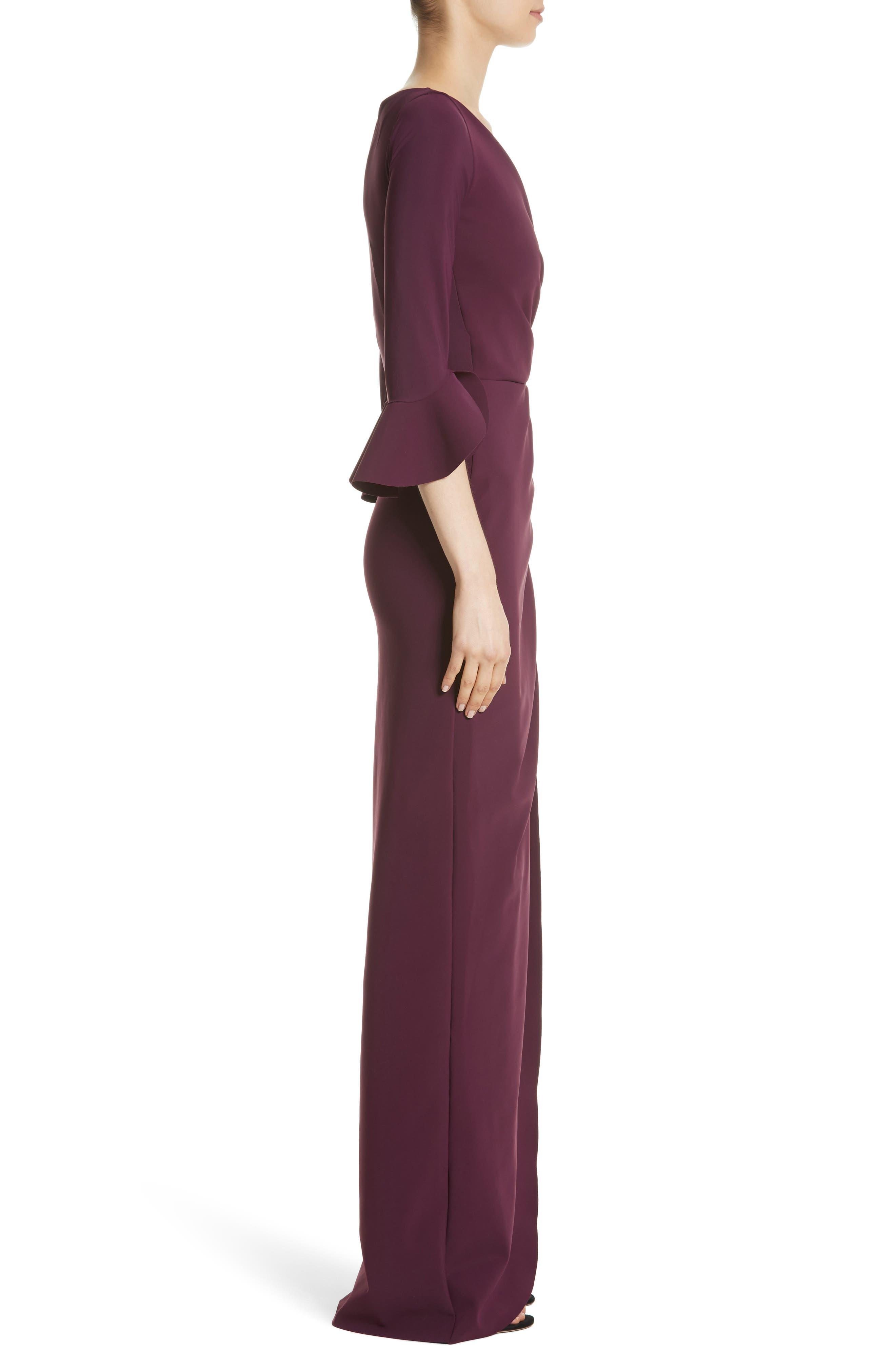 Alternate Image 3  - Chiara Boni La Petite Robe Ruffle Cuff Side Drape Gown