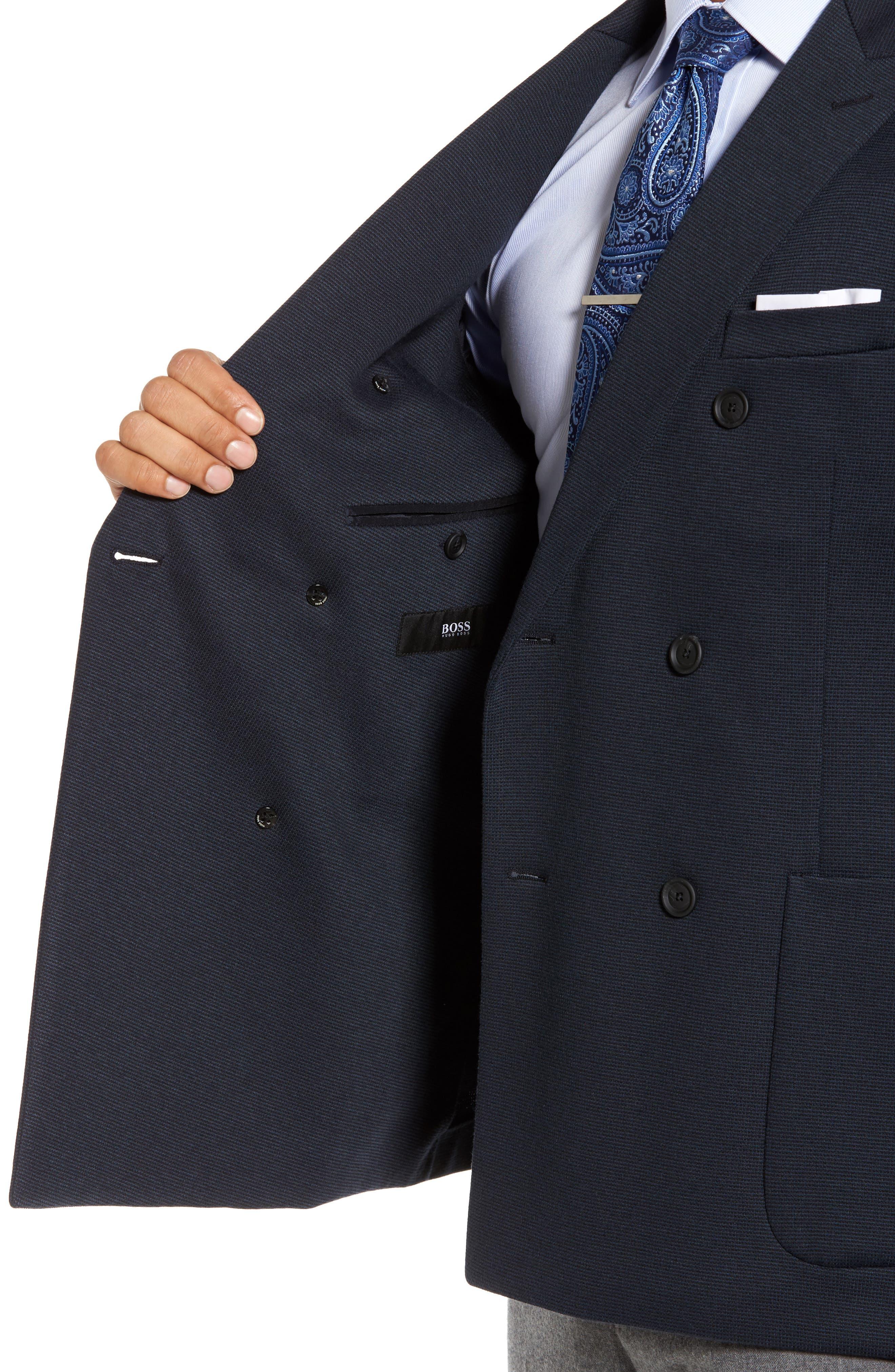 Alternate Image 4  - BOSS Nayler-J Trim Fit Double-Breasted Blazer