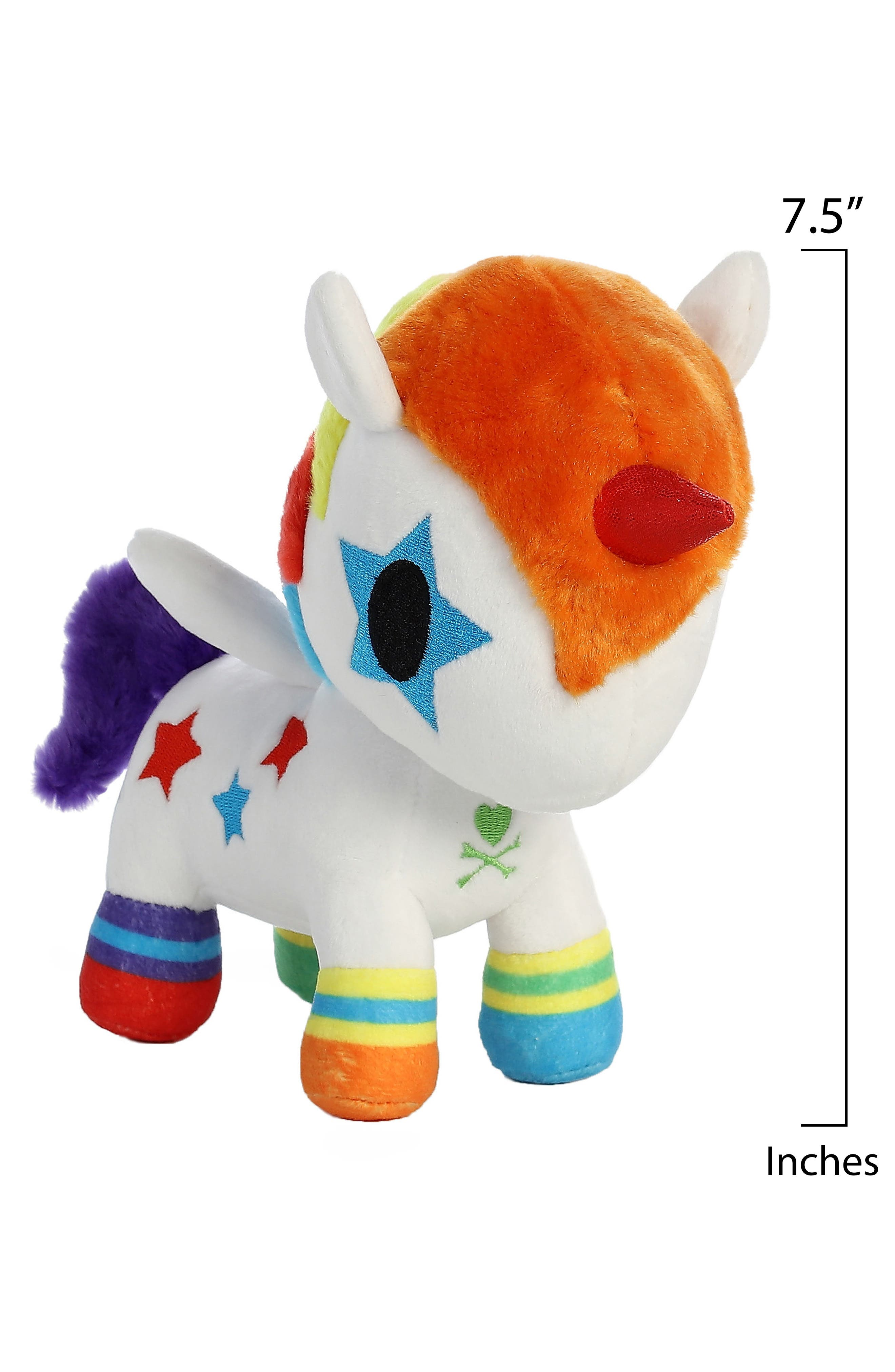 x tokidoki Bowie Unicorno Stuffed Animal,                             Alternate thumbnail 3, color,                             Orange
