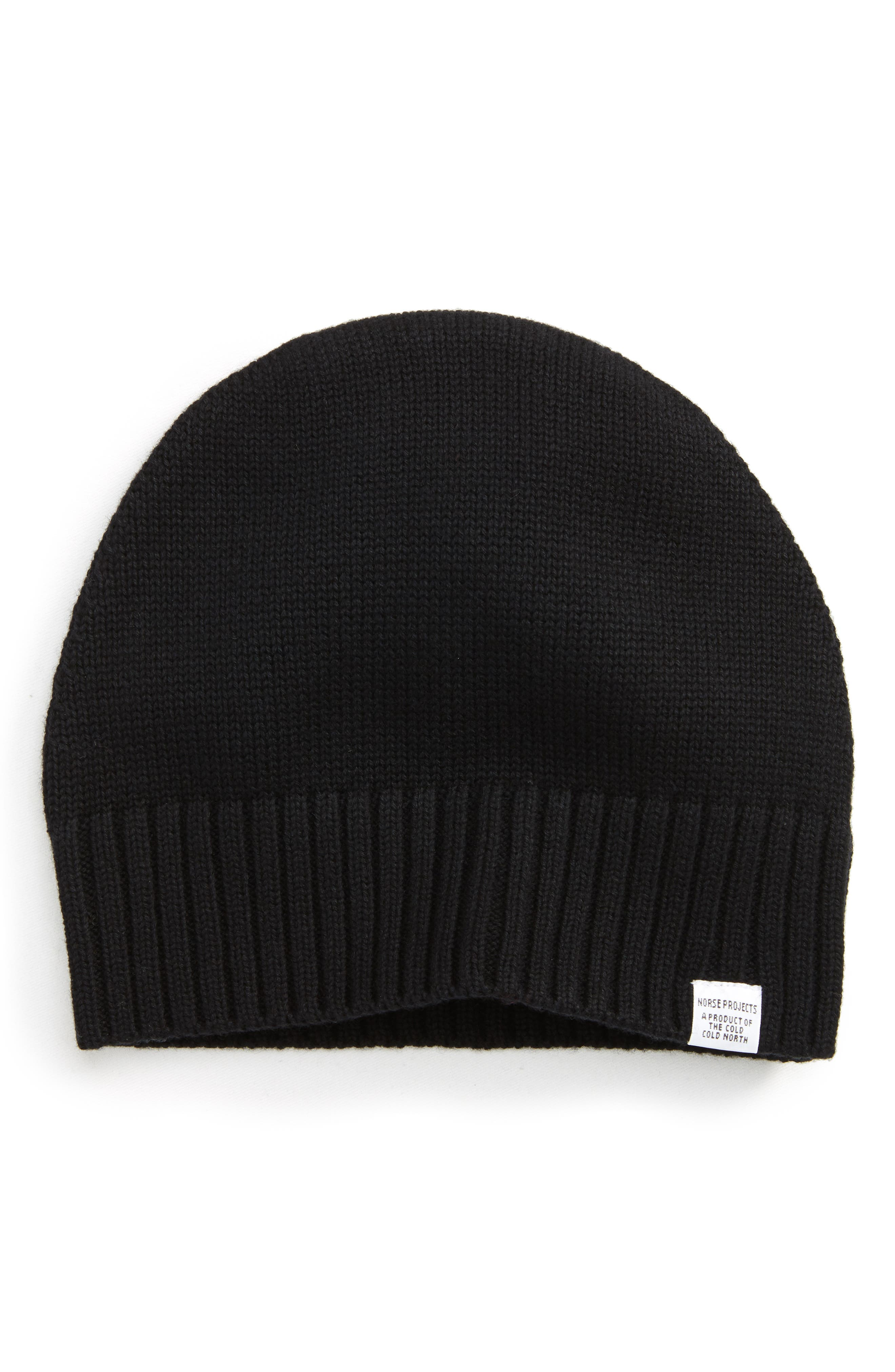 Norse Project Knit Cap,                         Main,                         color, Black