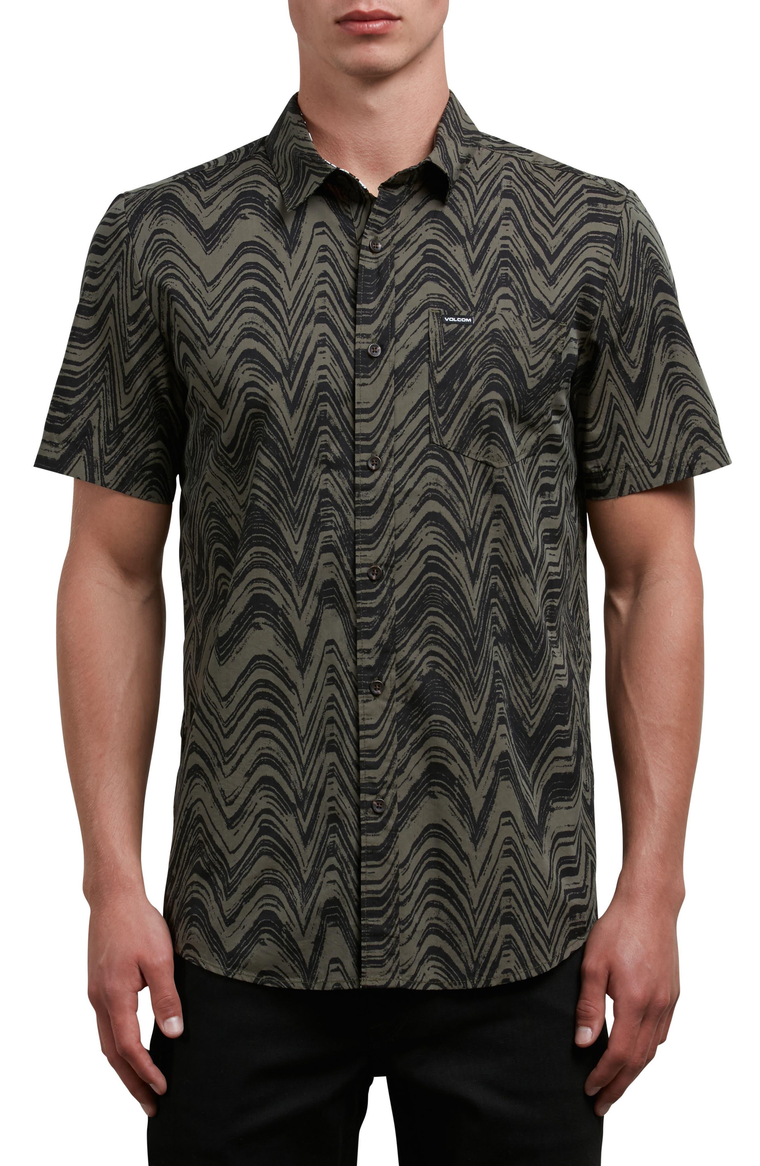 Lo-Fi Woven Shirt,                         Main,                         color, Green
