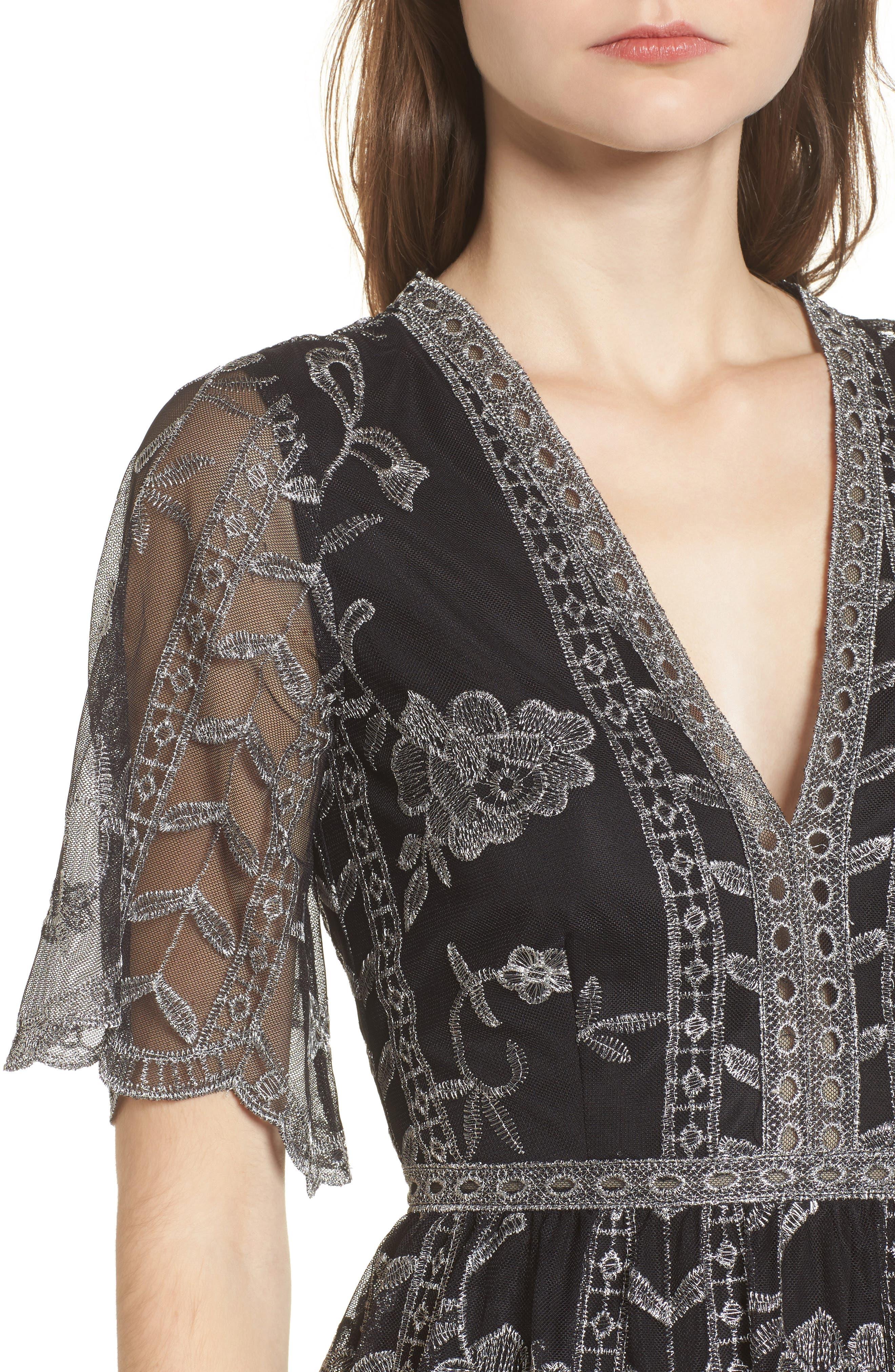 Alternate Image 5  - Socialite Plunging Lace Dress