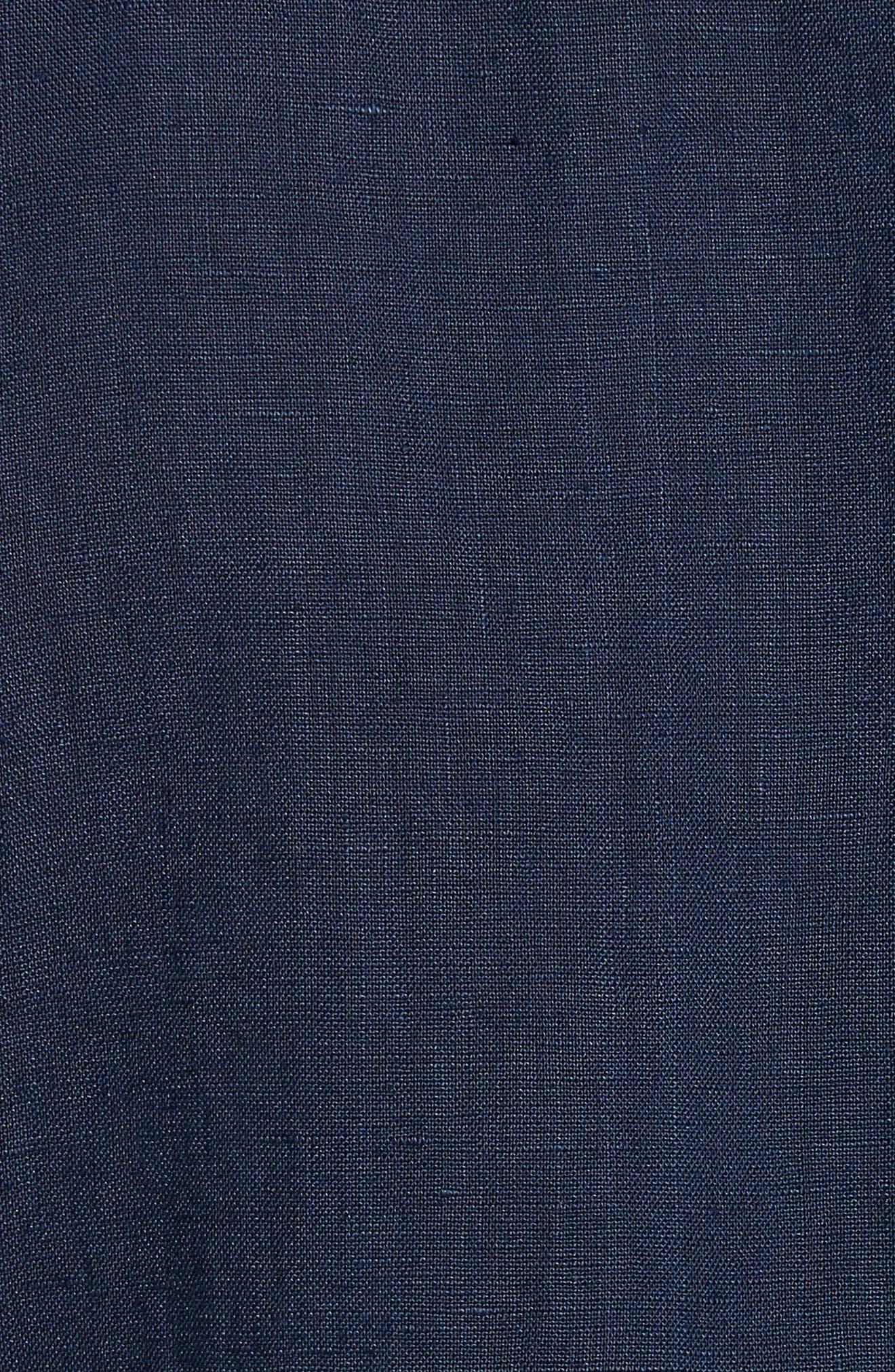 Alternate Image 5  - Original Paperbacks Rome Trim Fit Linen Sport Shirt