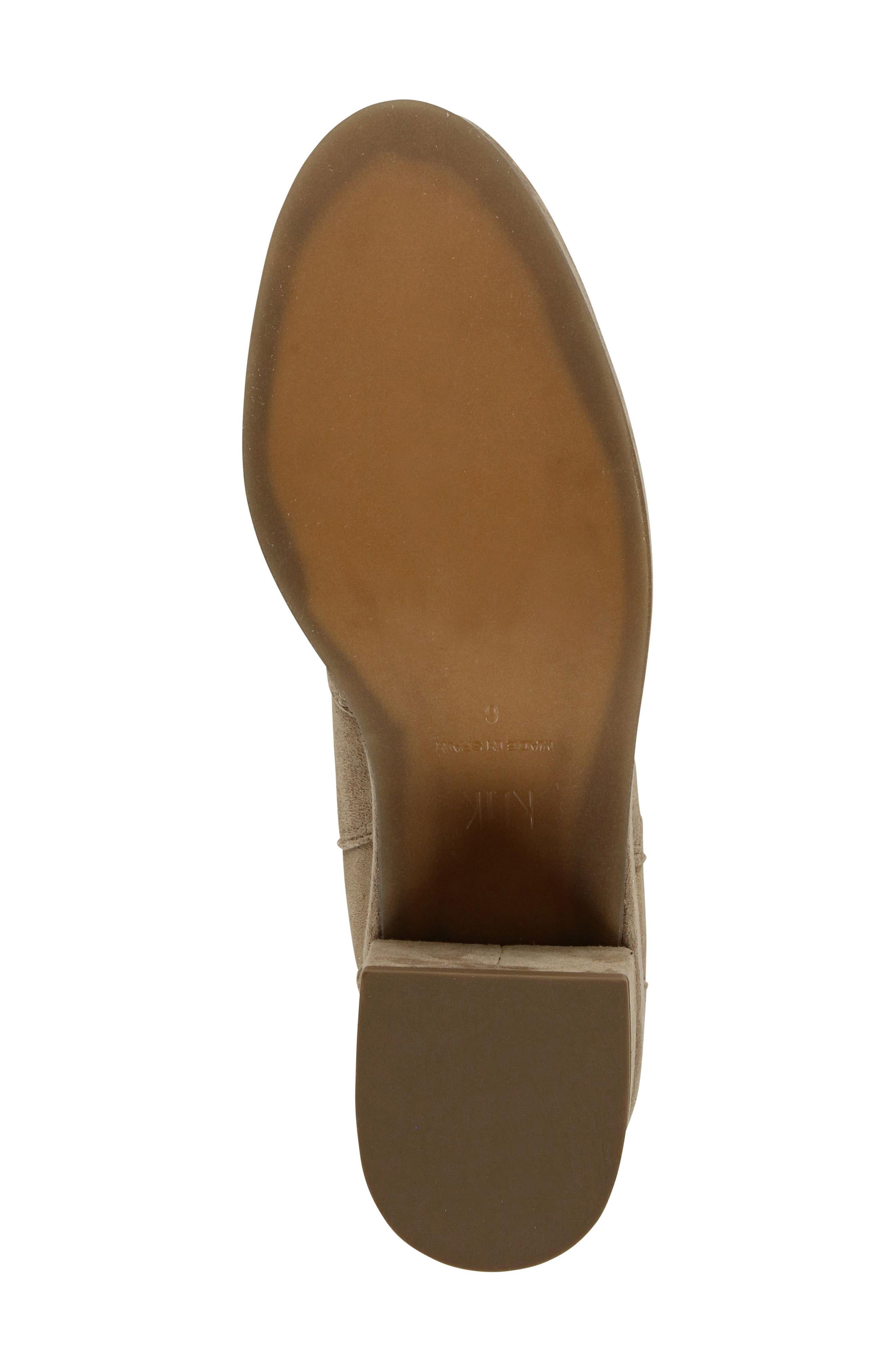 Darli Platform Chelsea Boot,                             Alternate thumbnail 5, color,                             Caramel Suede