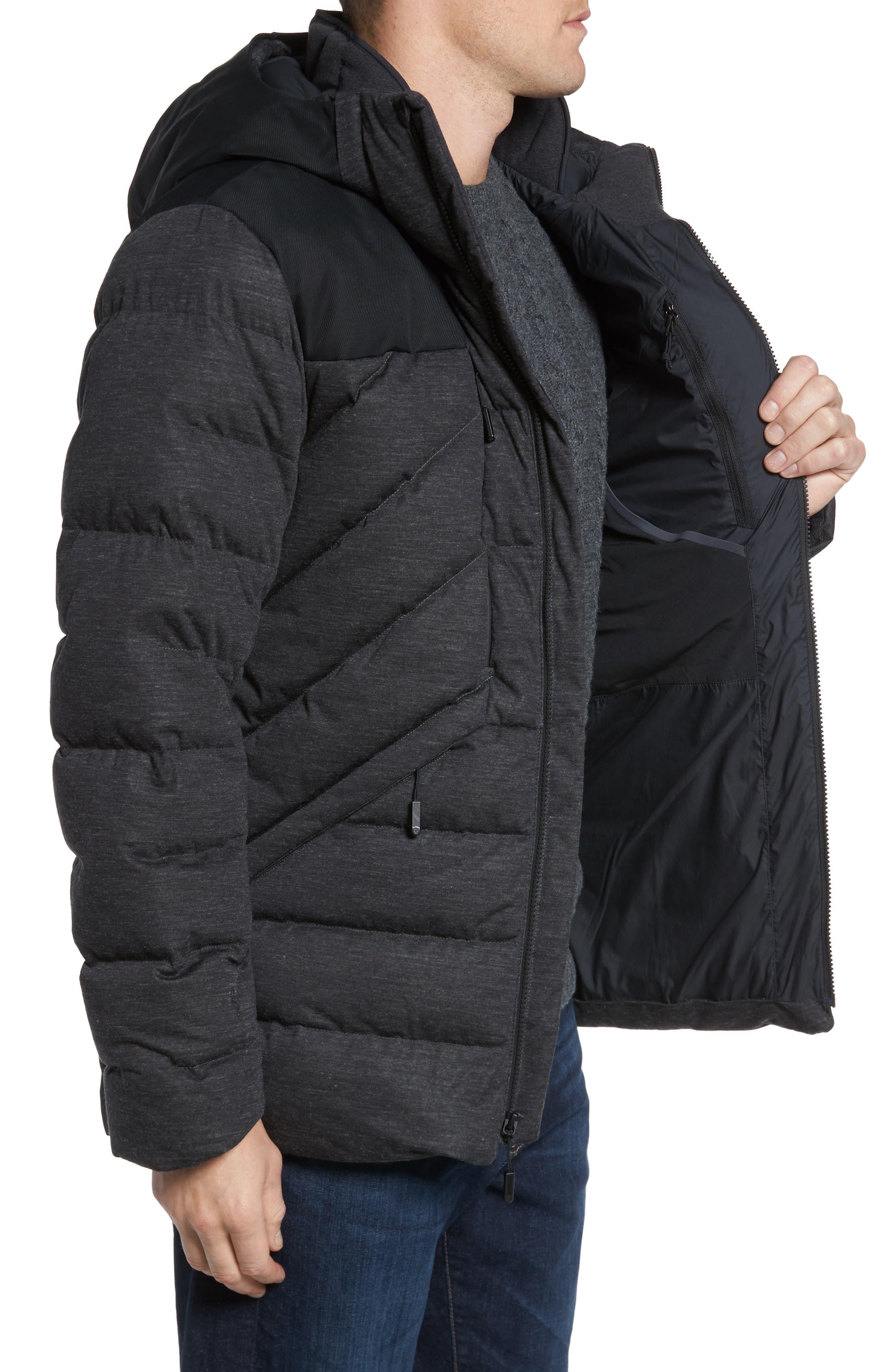 Cryos Waterproof Down Jacket,                             Alternate thumbnail 3, color,                             Dark Grey Heather