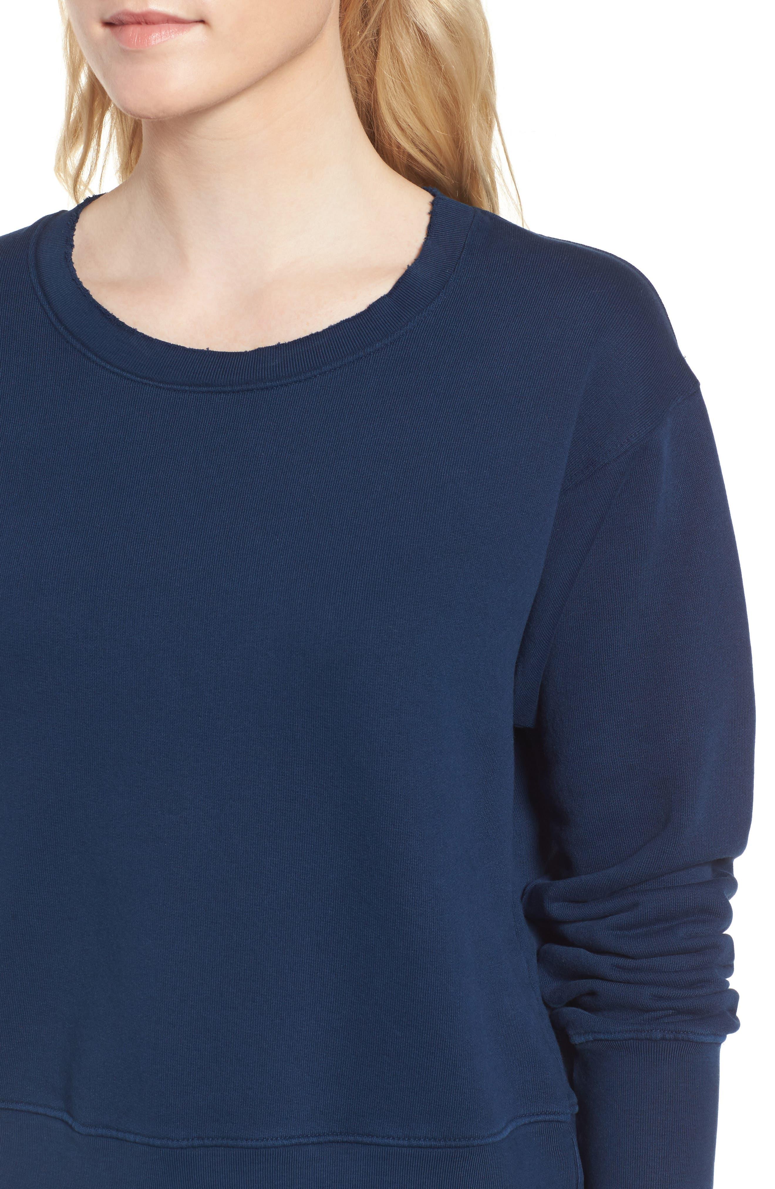 Distressed Sweatshirt,                             Alternate thumbnail 4, color,                             Blazer