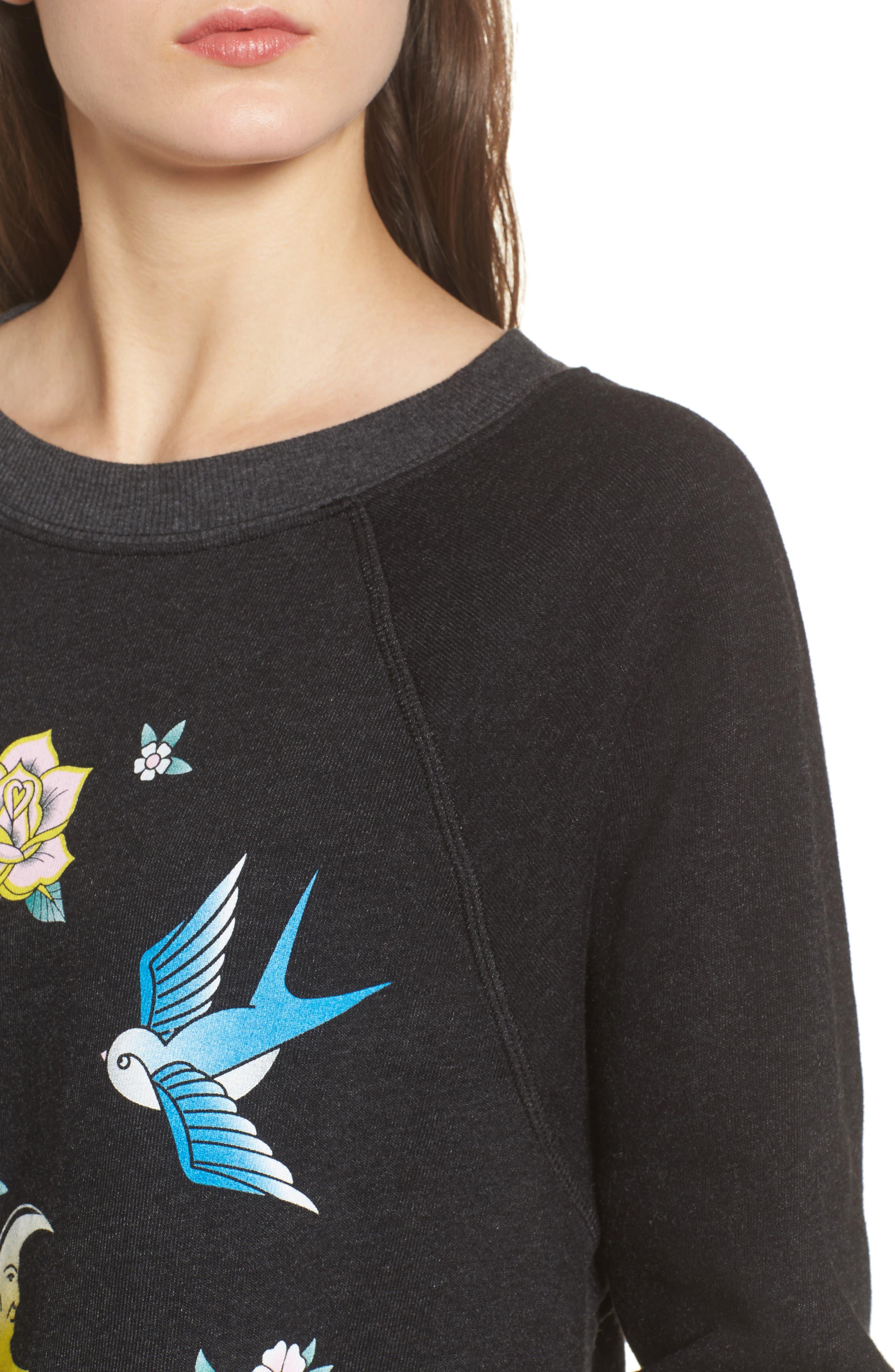 Alternate Image 4  - Wildfox Flash Sweatshirt