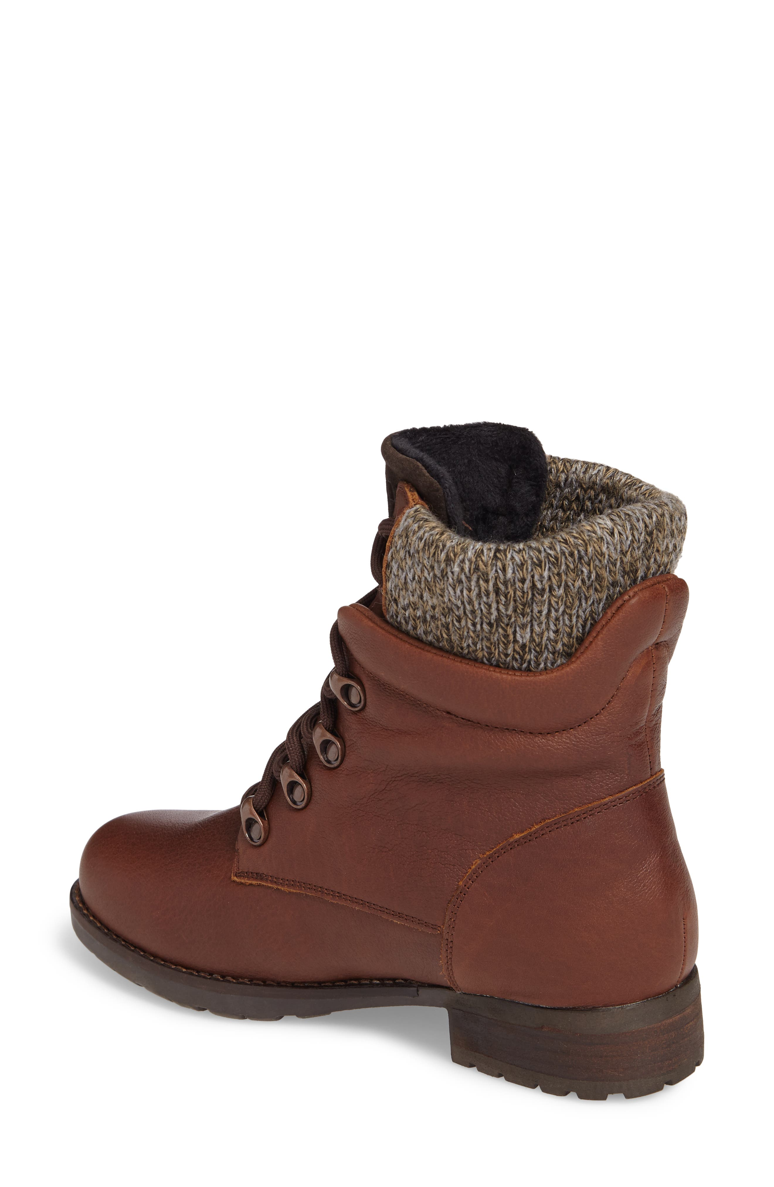 Derry Waterproof Boot,                             Alternate thumbnail 2, color,                             Dark Brown Leather