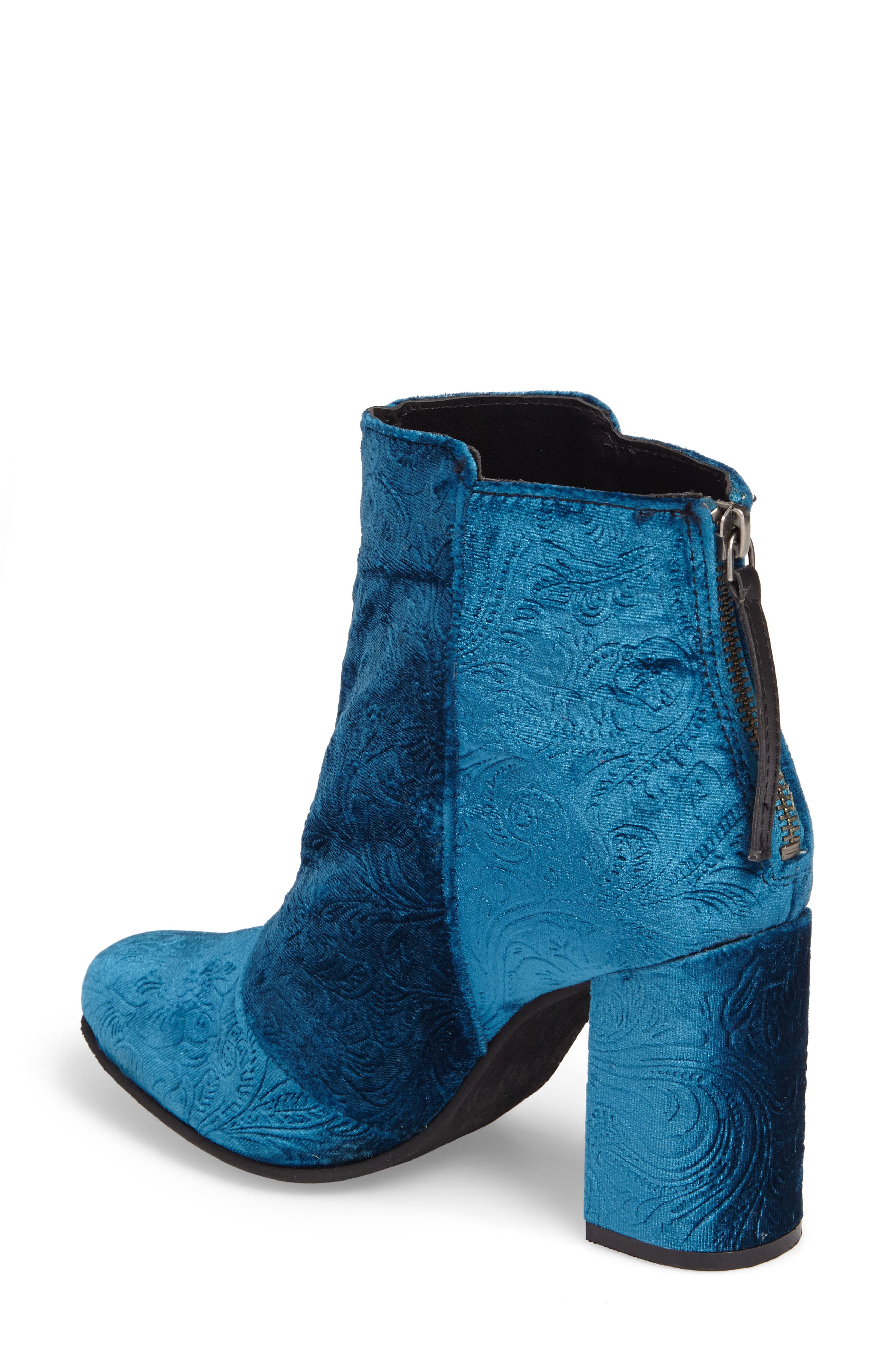 Nadonna Bootie,                             Alternate thumbnail 2, color,                             Teal Fabric