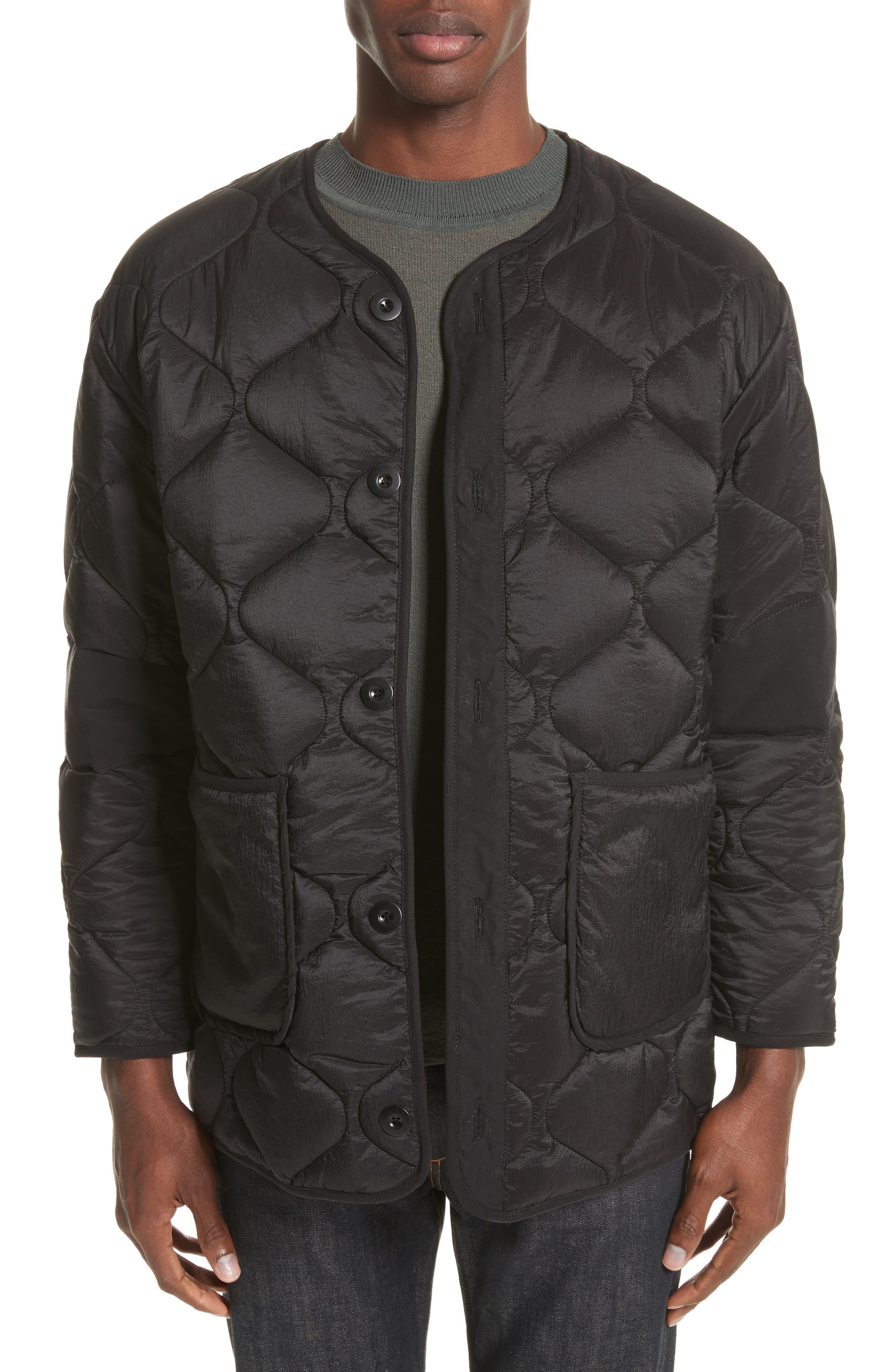 Quilted Liner Parachute Jacket,                             Main thumbnail 1, color,                             Black