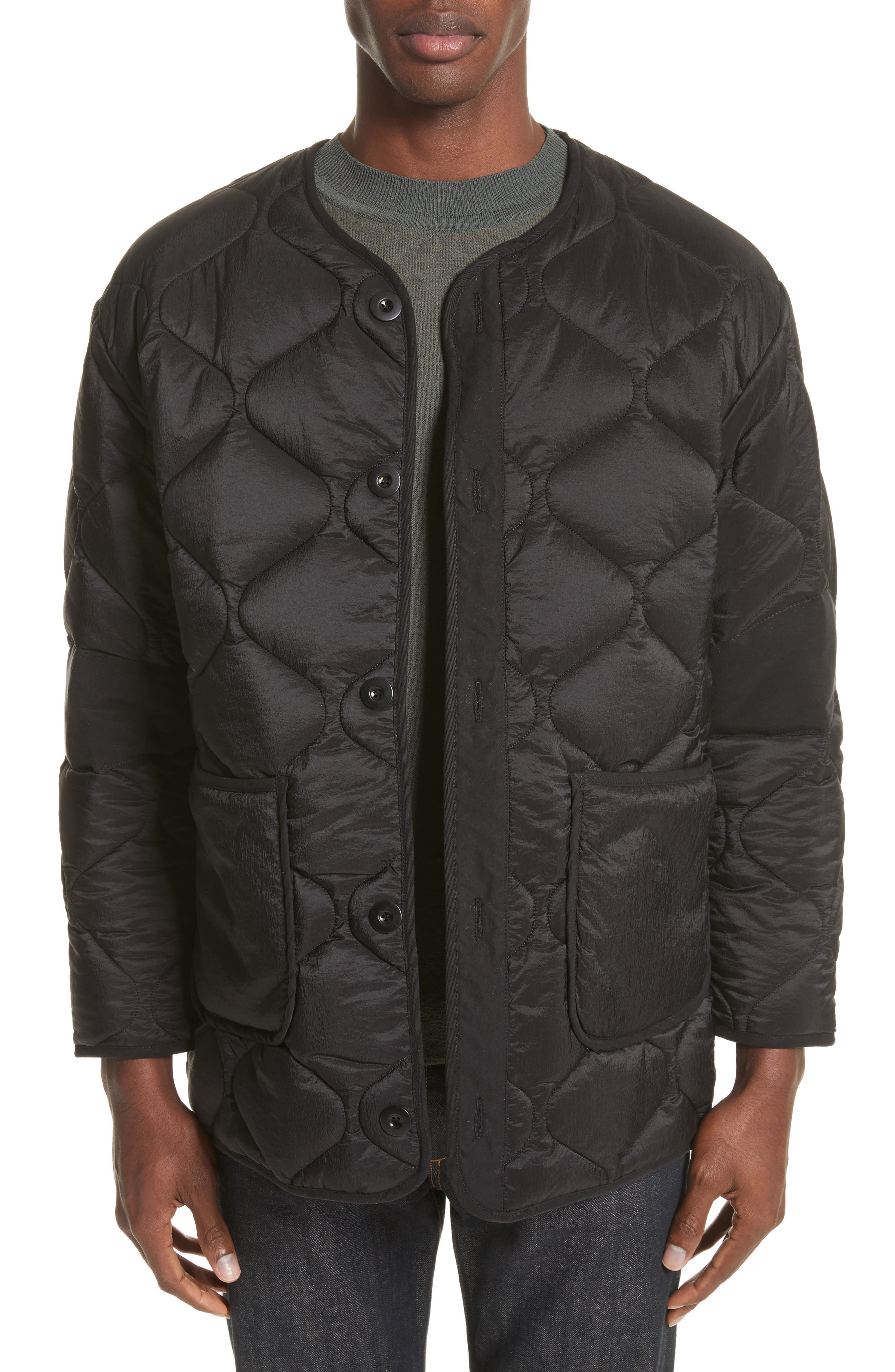 Quilted Liner Parachute Jacket,                         Main,                         color, Black