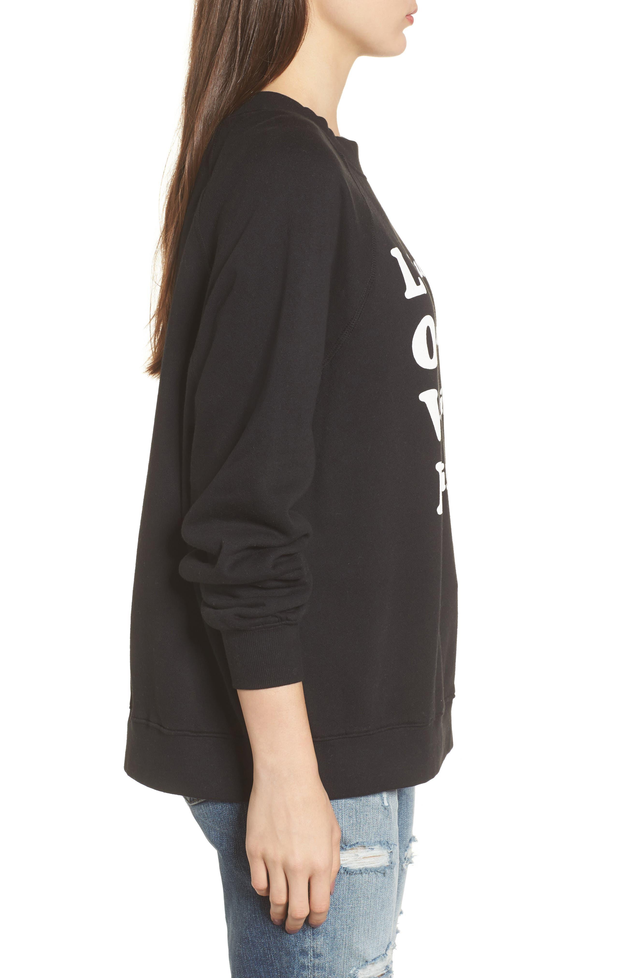 Wino - Sommers Sweatshirt,                             Alternate thumbnail 3, color,                             Black