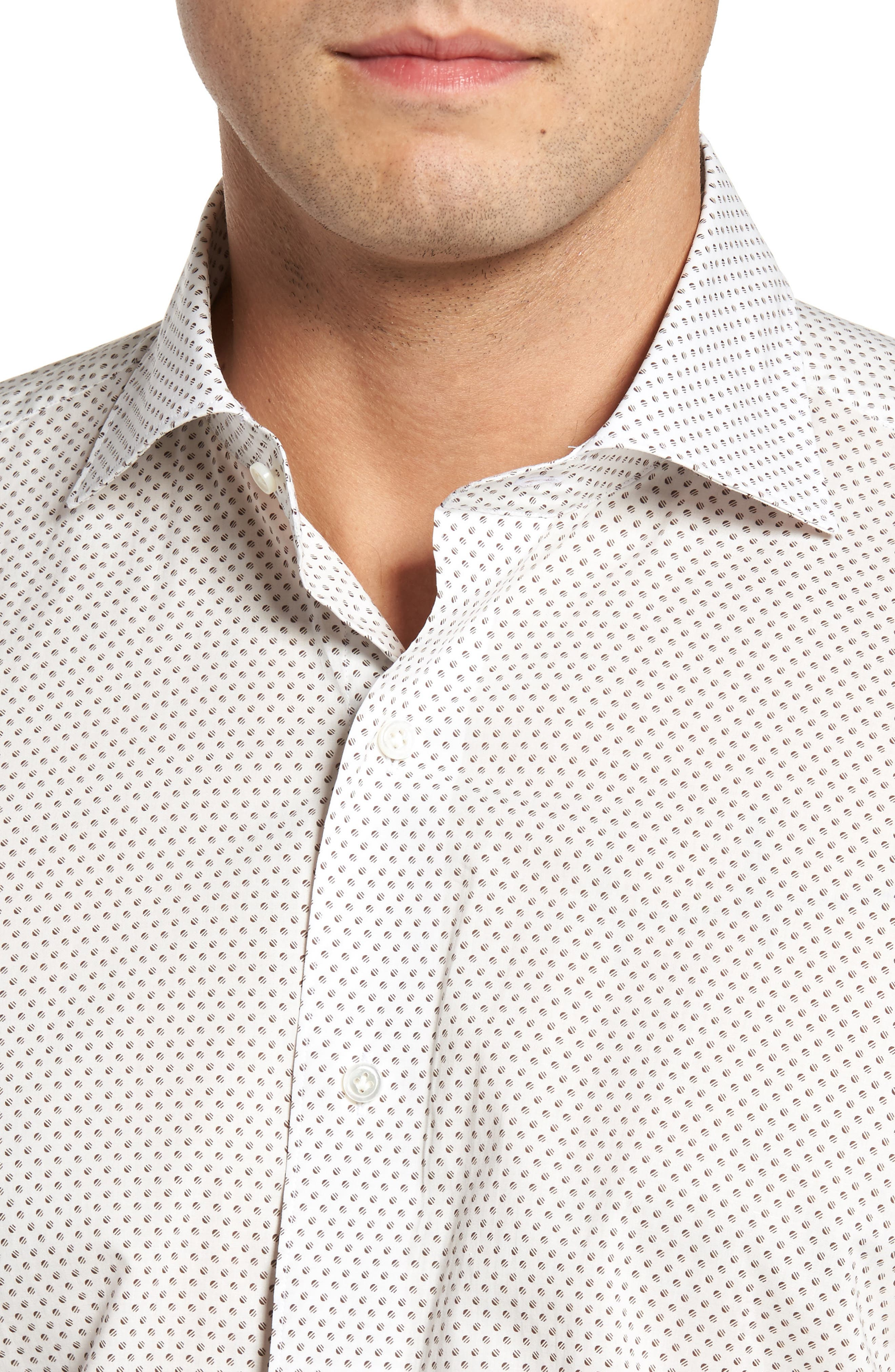 Alternate Image 4  - Peter Millar Collection Desert Dot Print Sport Shirt