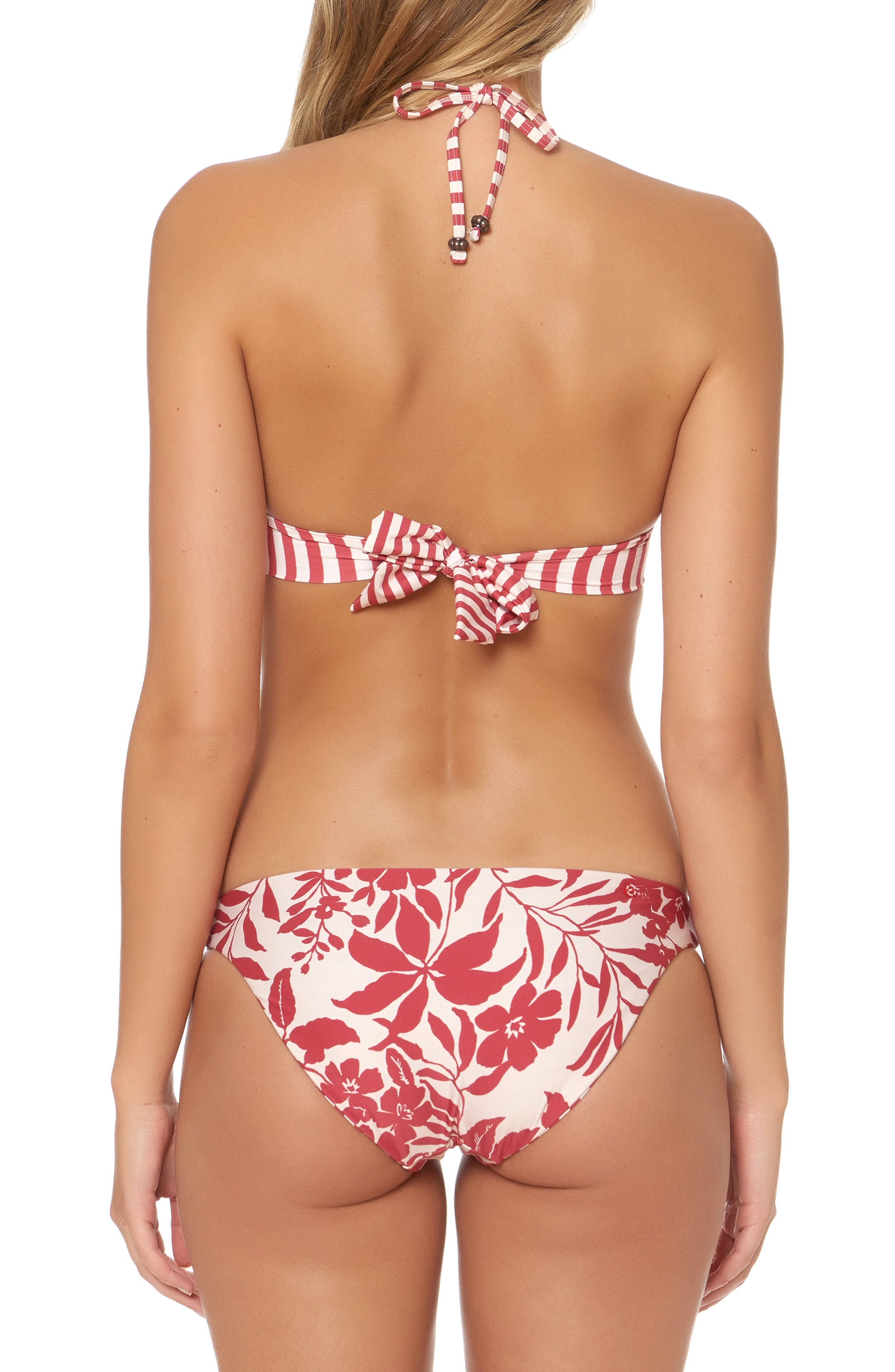 Twist Bikini Top,                             Alternate thumbnail 2, color,                             Ruby