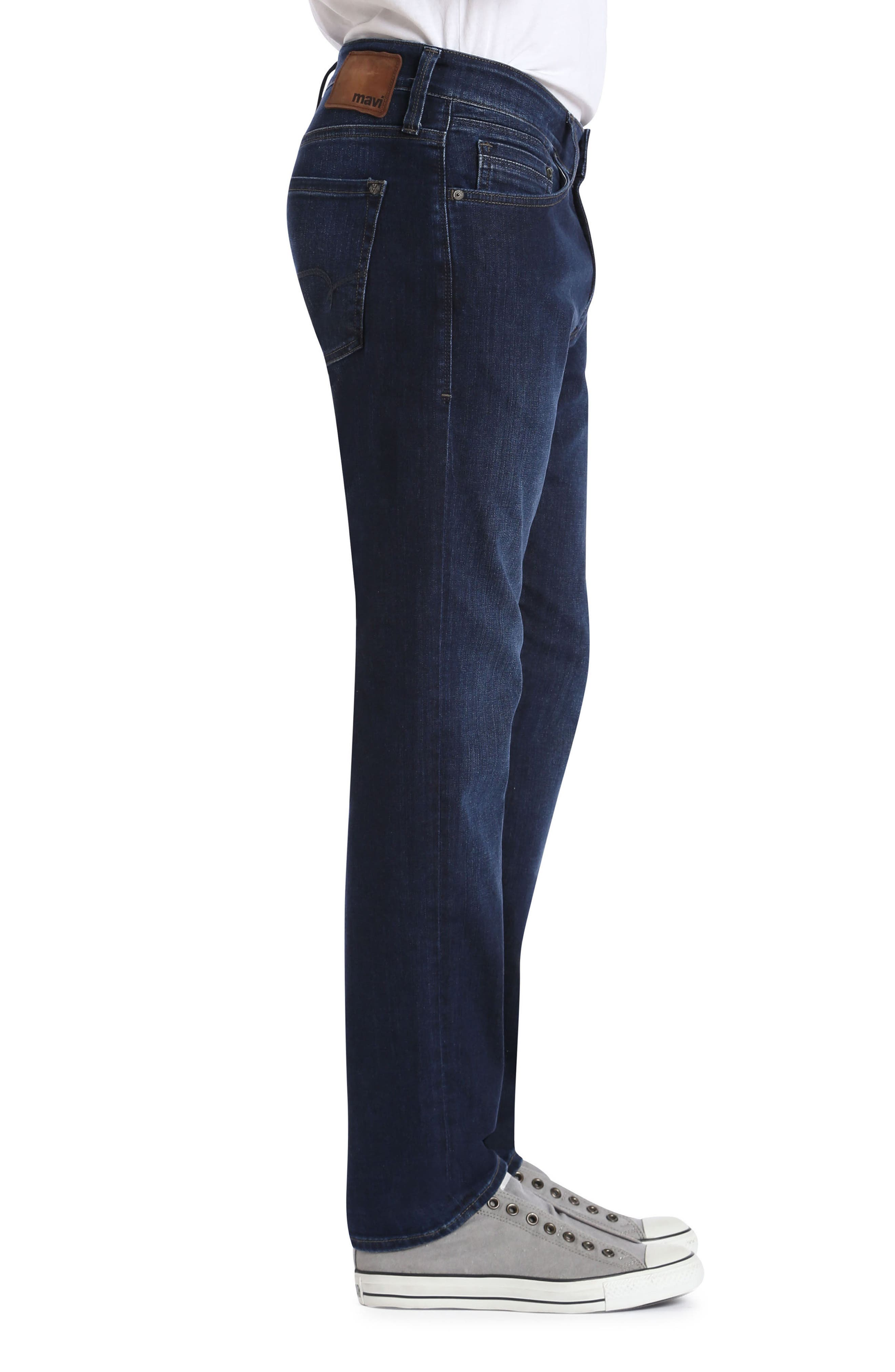 Zach Straight Fit Jeans,                             Alternate thumbnail 3, color,                             Deep Clean Comfort