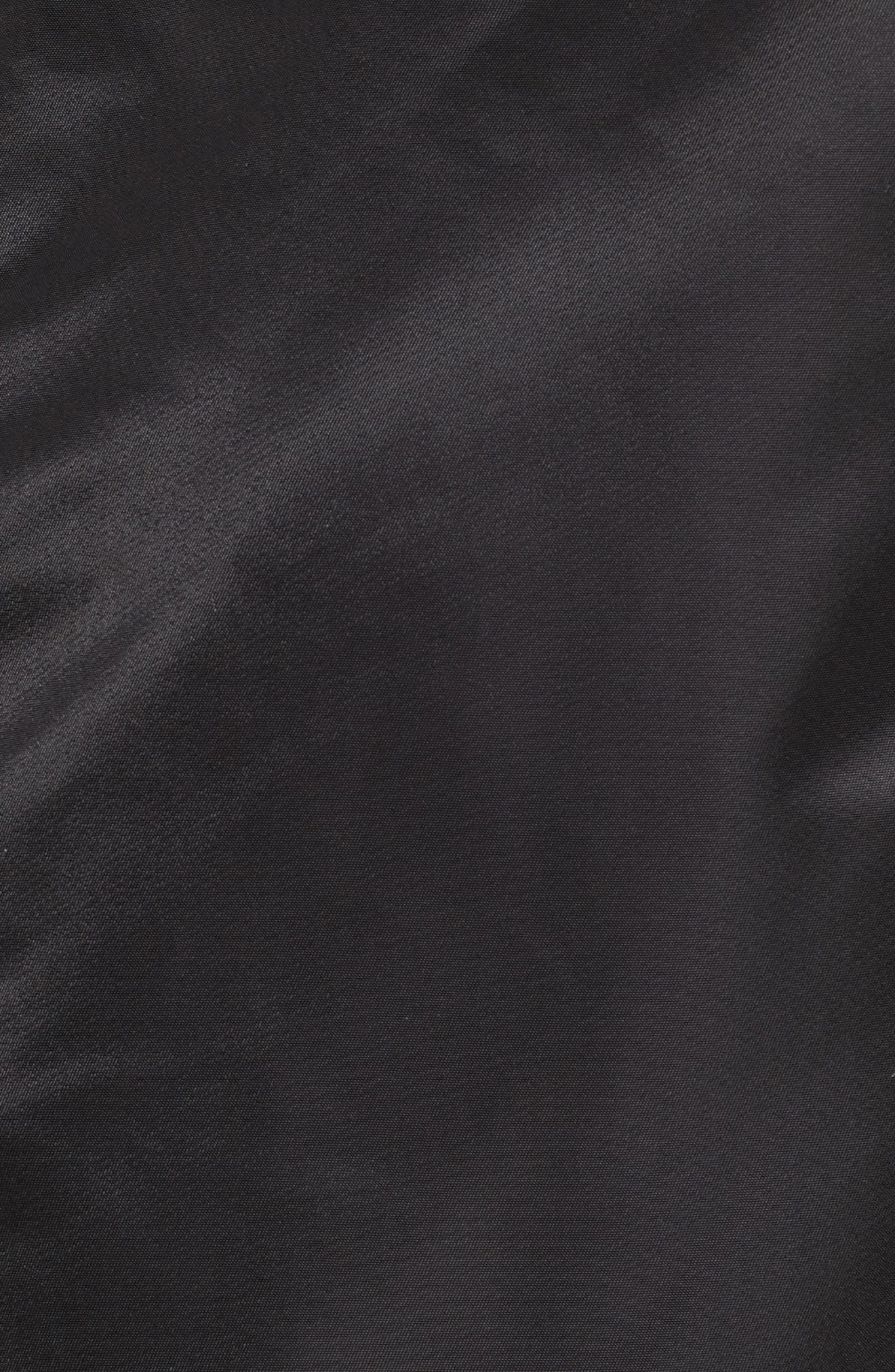 Long Souvenir Illusion MA-1 Jacket,                             Alternate thumbnail 6, color,                             Black