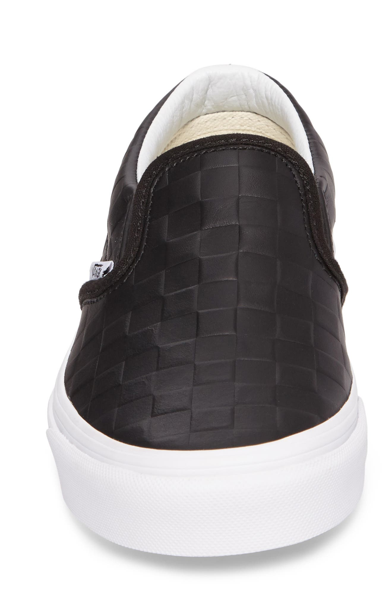 Classic Slip-On Sneaker,                             Alternate thumbnail 4, color,                             Checkerboard/ Black